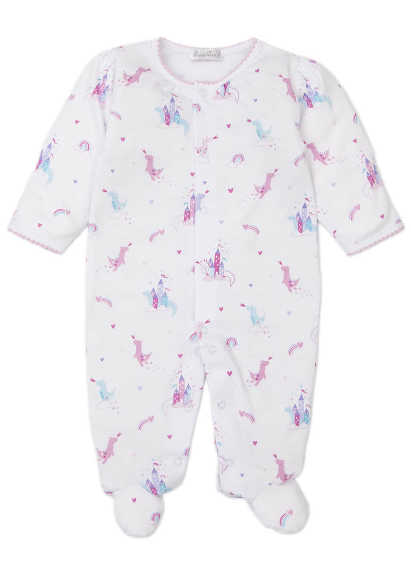 Image 1 of 2: Rainbow Castles Printed Footie Playsuit, Size Newborn-9 Months