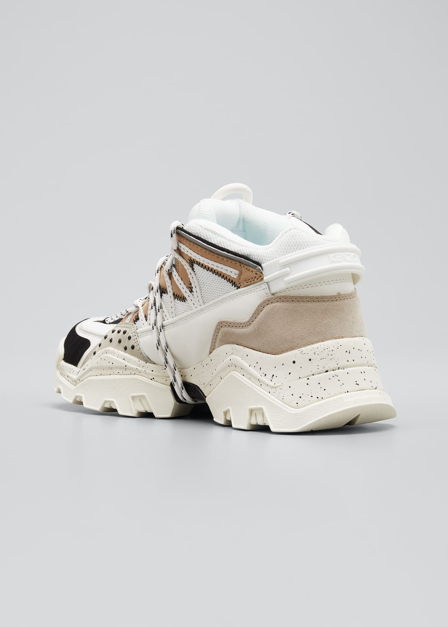 Image 4 of 5: Men's Inka Mix-Media Wraparound-Lace Sneakers