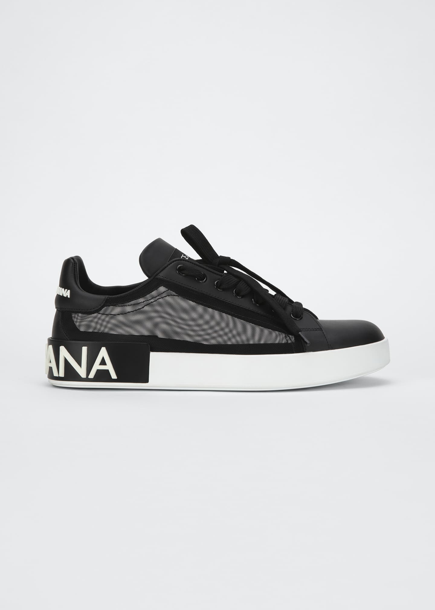 Image 1 of 3: Classic Leather/Mesh Low-Top Sneakers