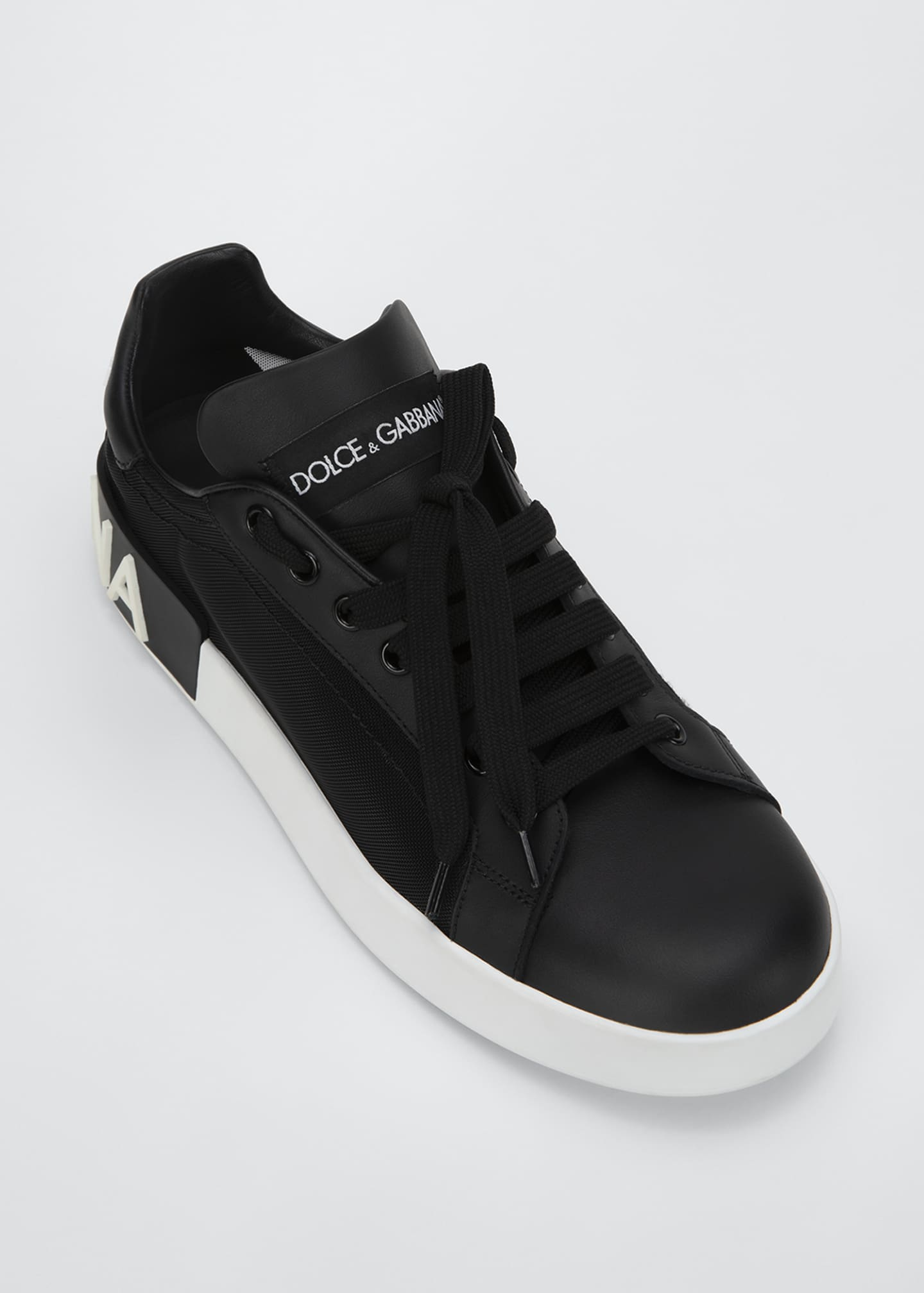 Image 3 of 3: Classic Leather/Mesh Low-Top Sneakers