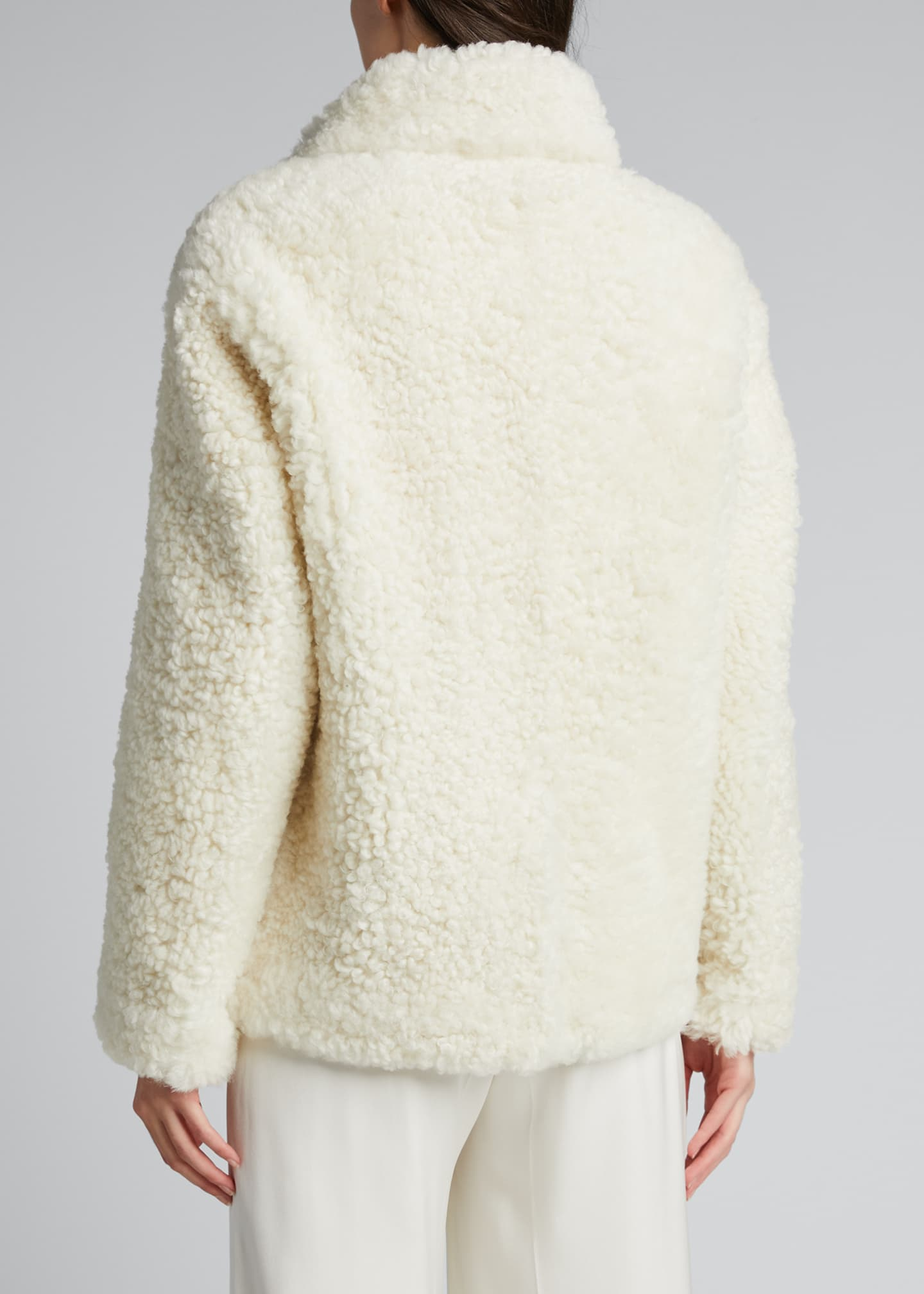 Image 2 of 5: Shearling Zip-Front Jacket