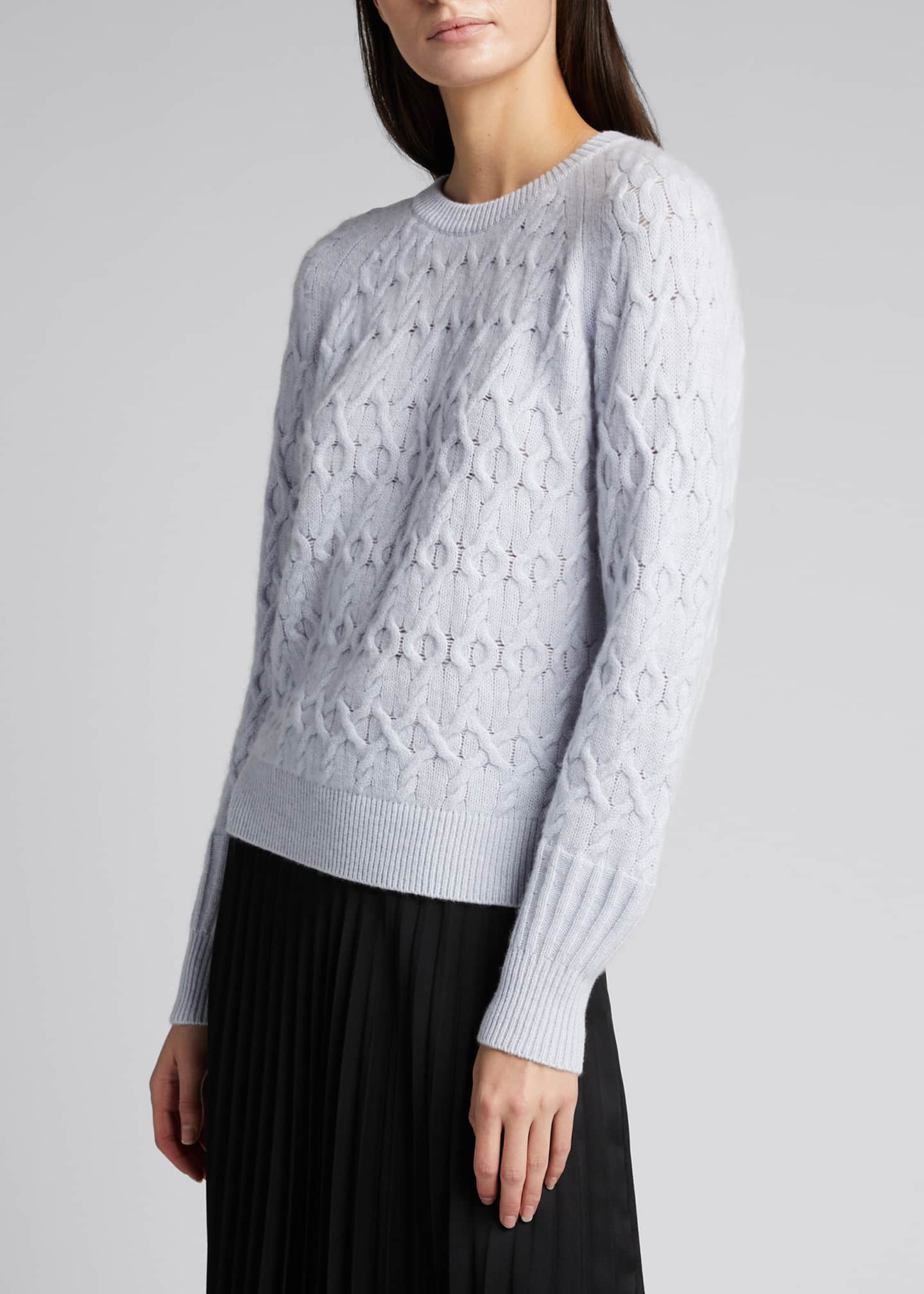Image 3 of 5: Diamond Cashmere-Blend Sweater