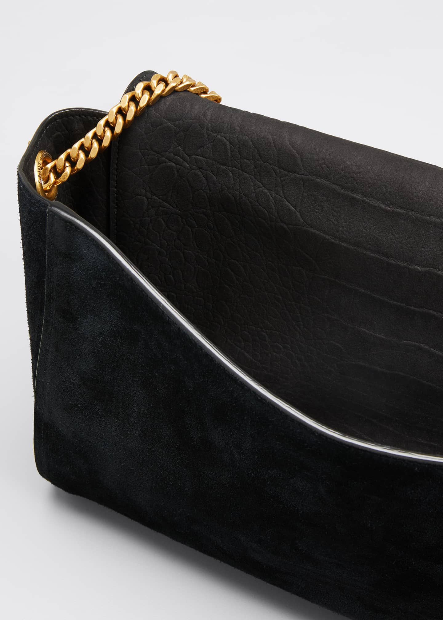 Image 4 of 5: Kate Medium YSL Reversible Suede Crossbody Bag