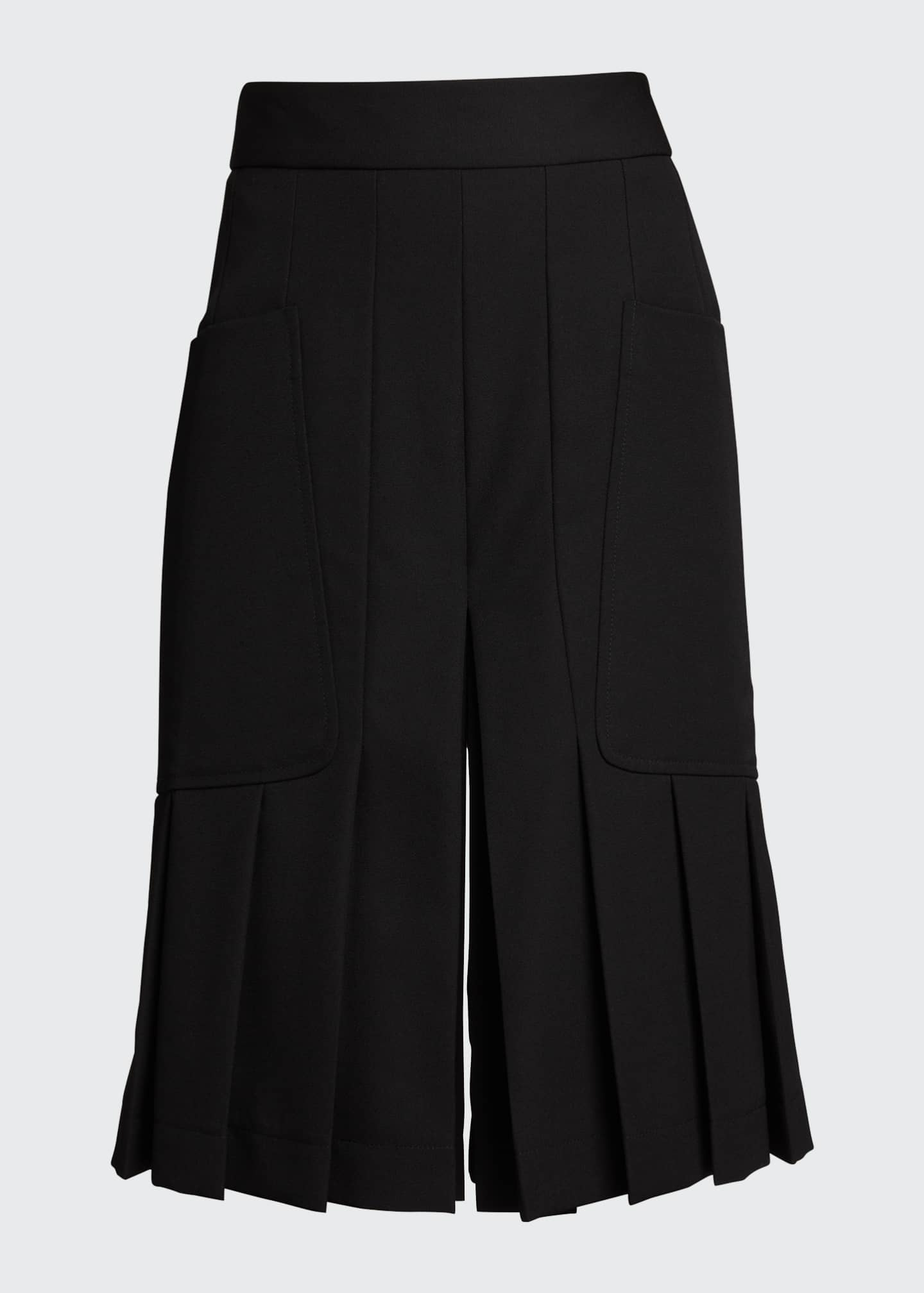 Image 5 of 5: Pleated Wool Culottes