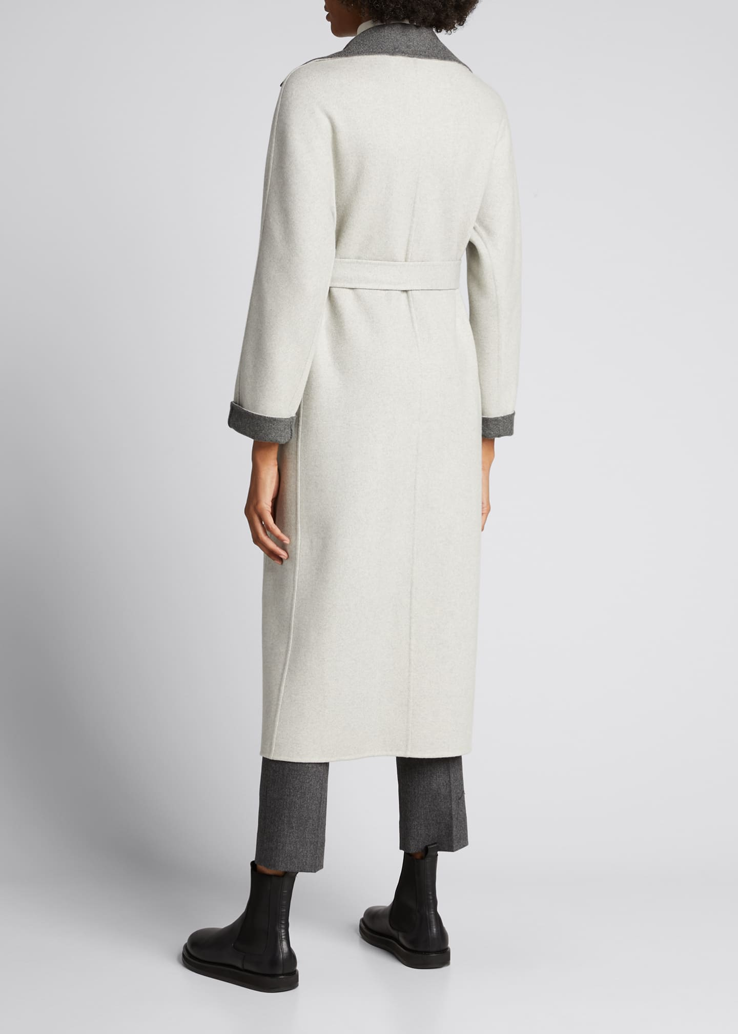 Image 2 of 5: Kerrin Belted Double Coat