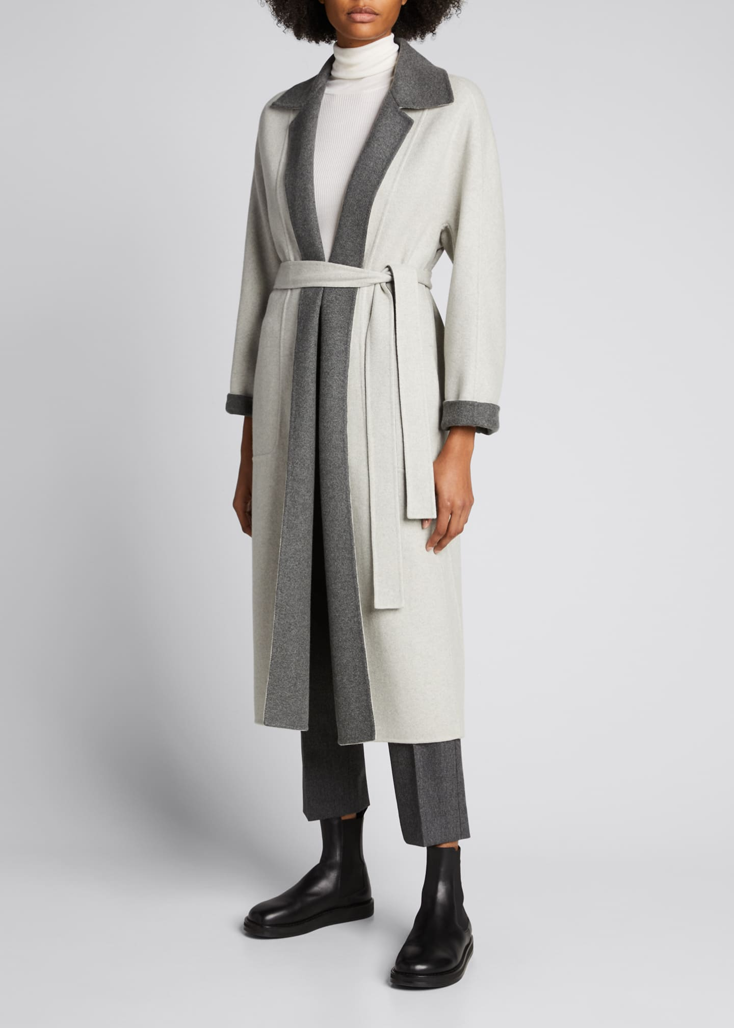 Image 3 of 5: Kerrin Belted Double Coat