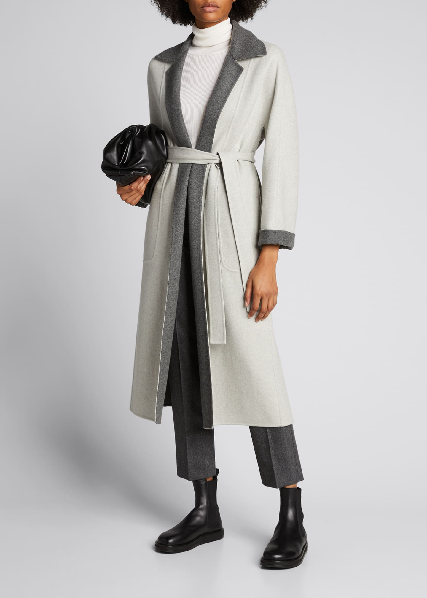 Image 1 of 5: Kerrin Belted Double Coat
