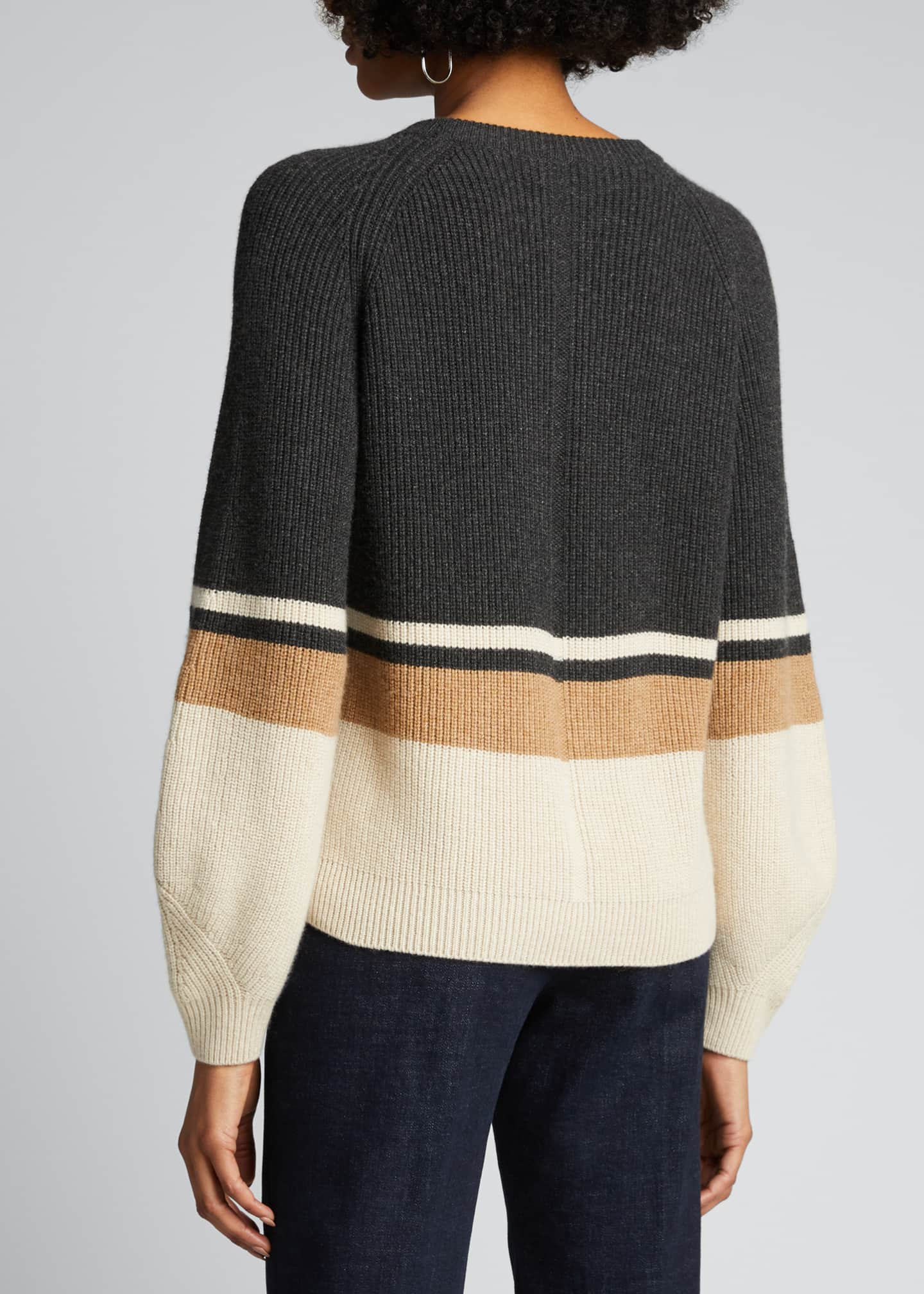 Image 2 of 4: Rigato Lexington Striped Cashmere Sweater