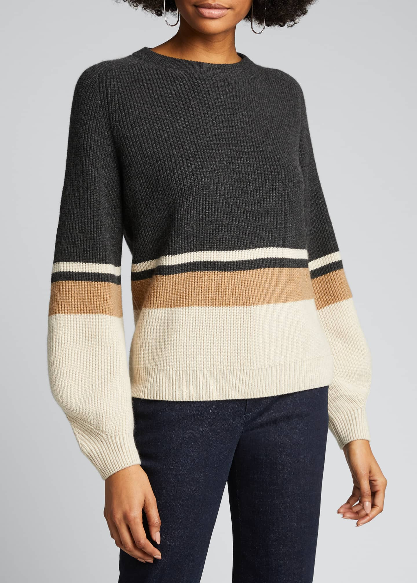 Image 3 of 4: Rigato Lexington Striped Cashmere Sweater