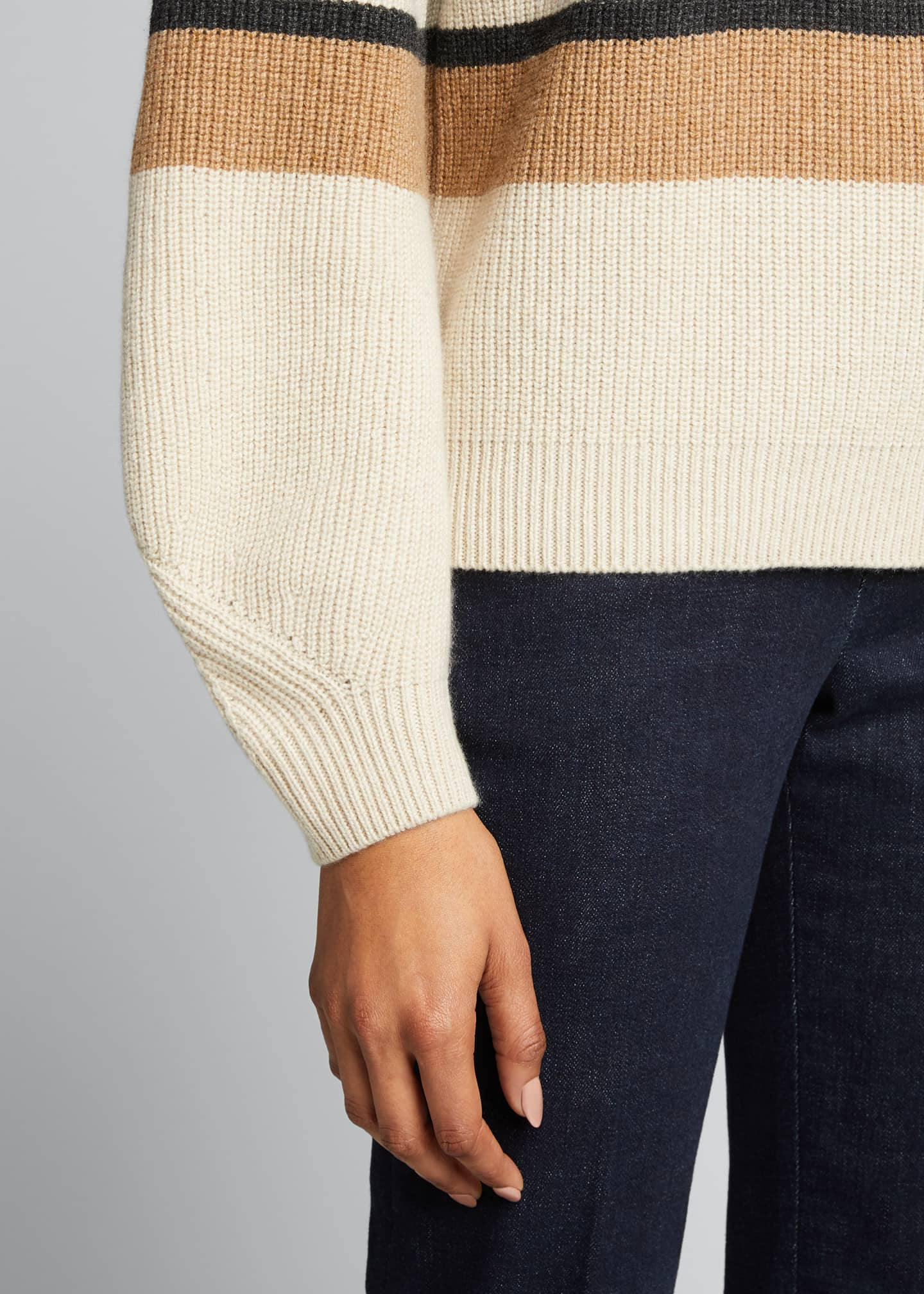 Image 4 of 4: Rigato Lexington Striped Cashmere Sweater