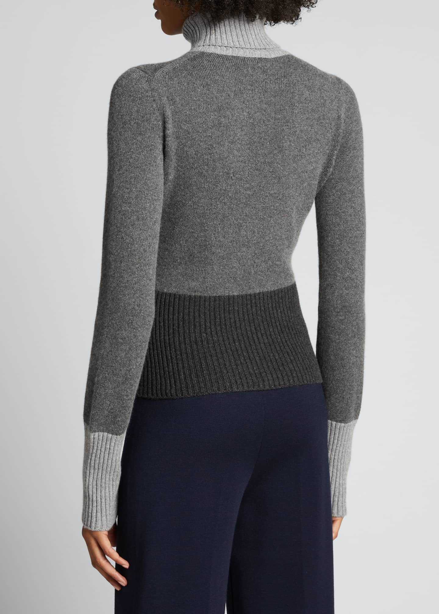 Image 2 of 5: Wall Street Colorblock Turtleneck Sweater