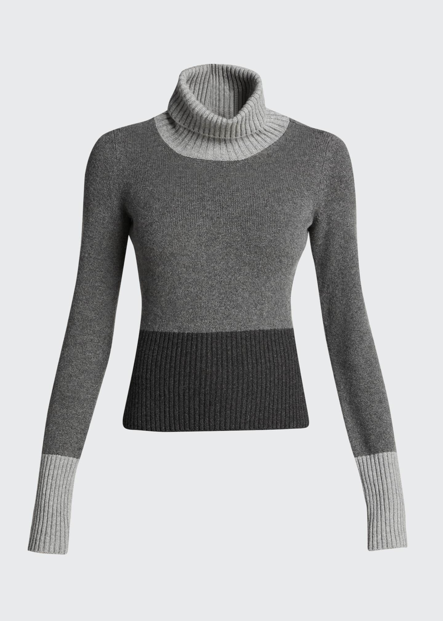 Image 5 of 5: Wall Street Colorblock Turtleneck Sweater