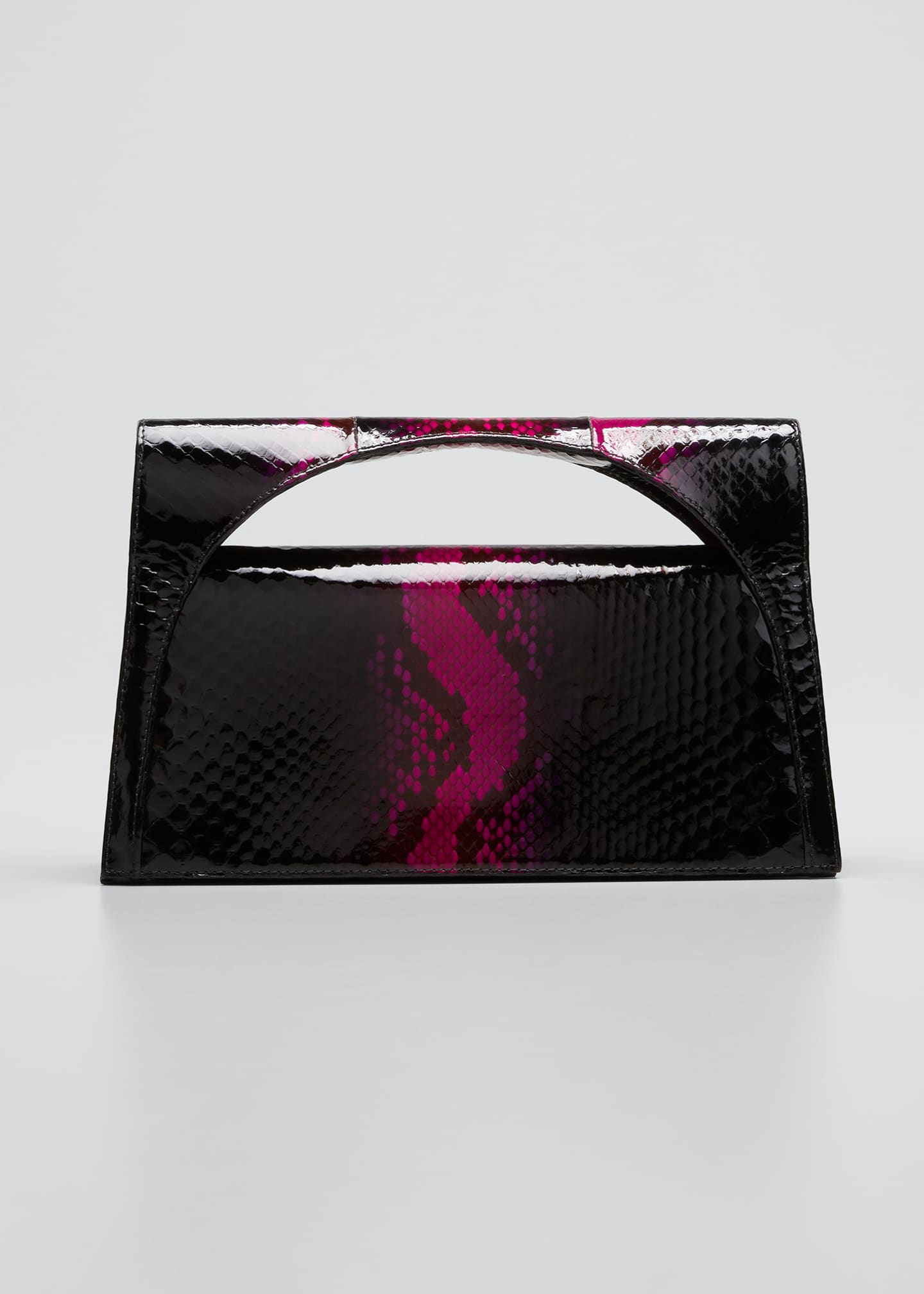 Image 1 of 5: Sammy Small Keyhole Python Clutch Bag