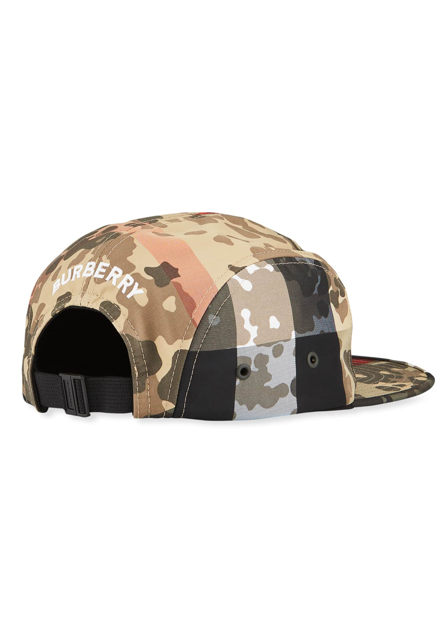Image 2 of 2: Men's Camo Nylon 5-Panel Camp Cap