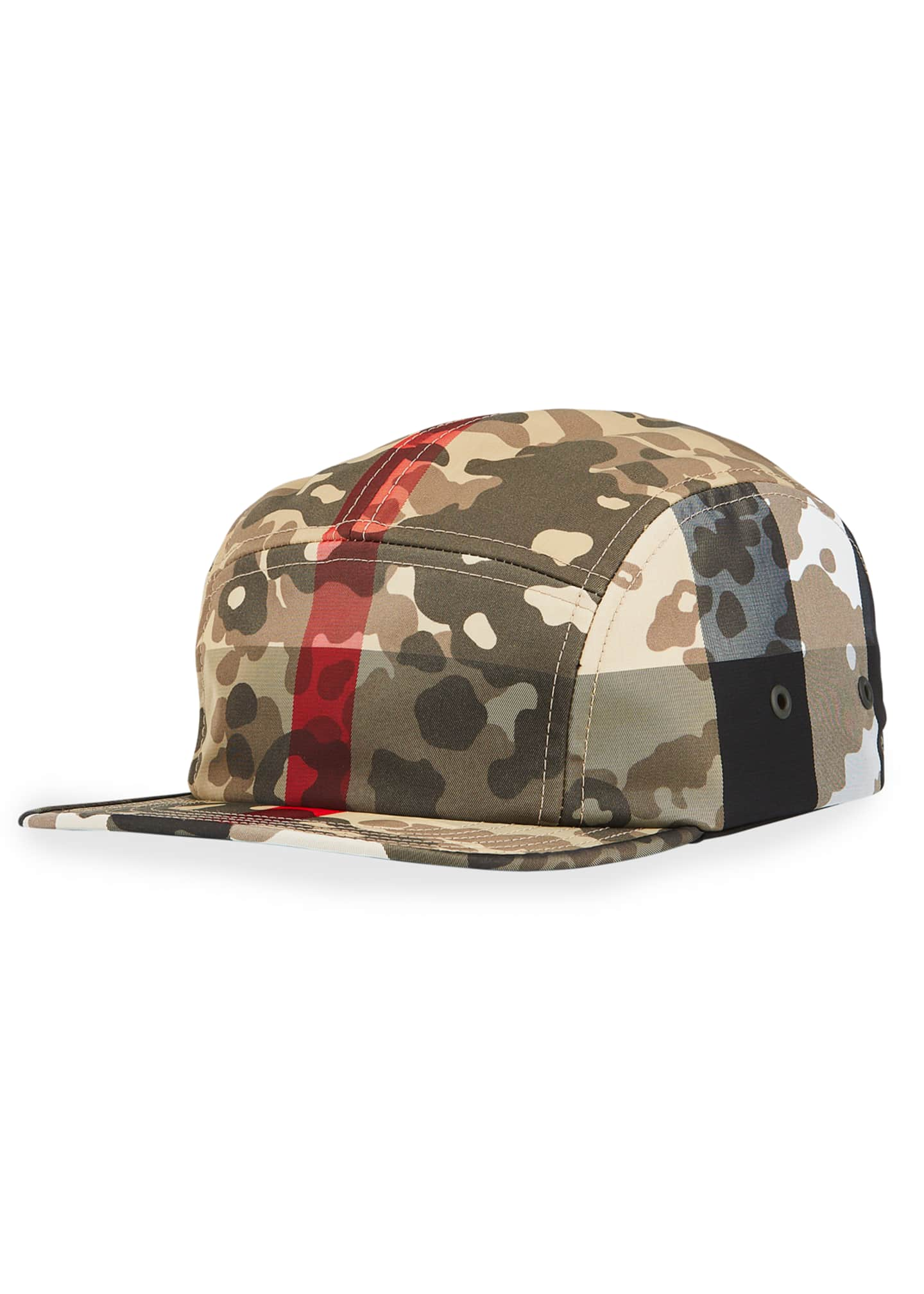 Image 1 of 2: Men's Camo Nylon 5-Panel Camp Cap