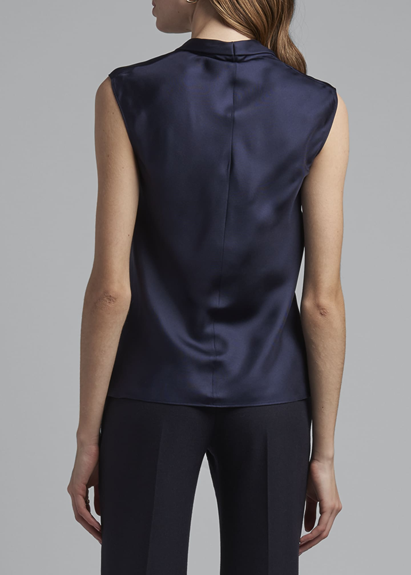 Image 2 of 4: Eternal Silk Twill Sleeveless Shell