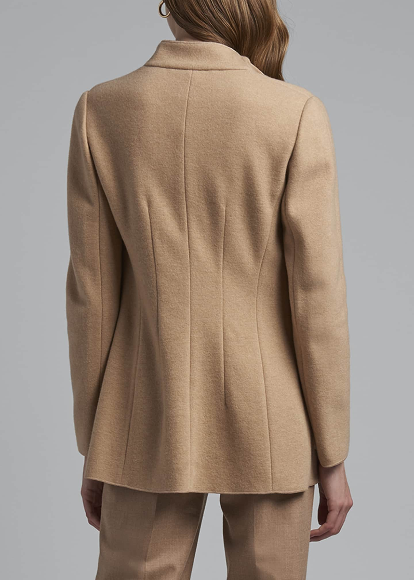 Image 2 of 3: Cashmere Fluid-Collar Jacket