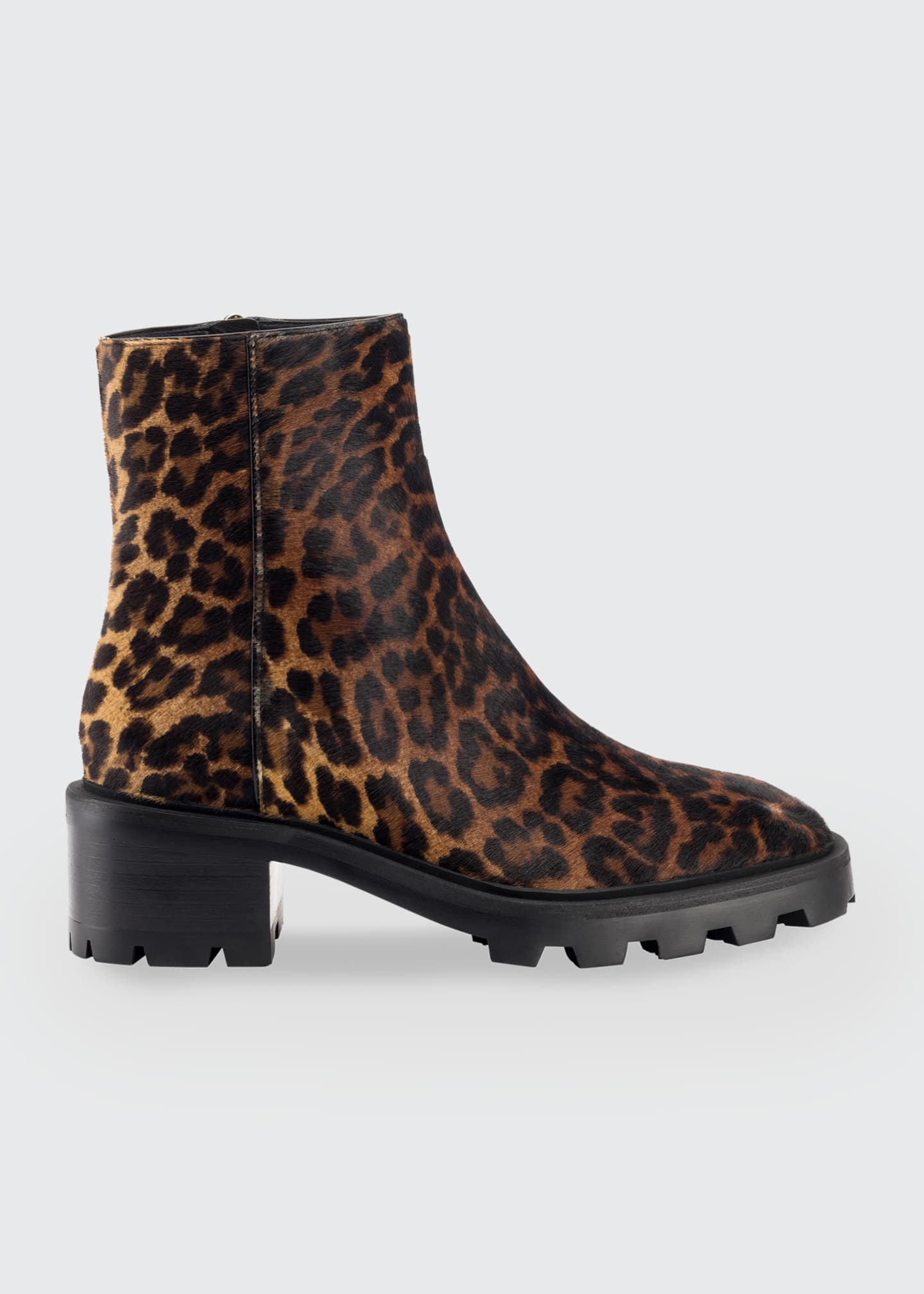 Image 1 of 1: Mava Leopard-Print Fur Ankle Booties