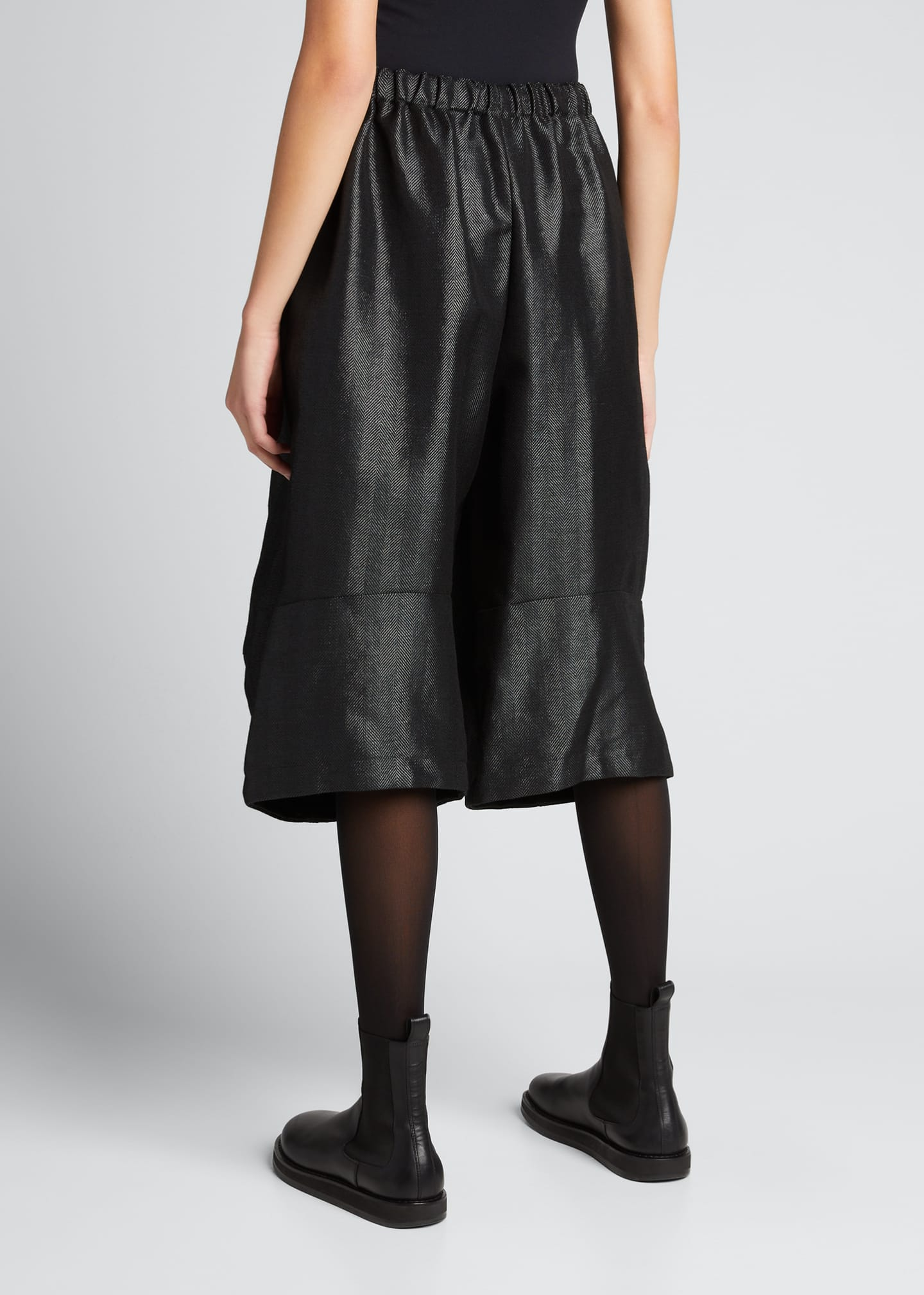 Image 2 of 5: Wide-Leg Wool-Blend Culottes