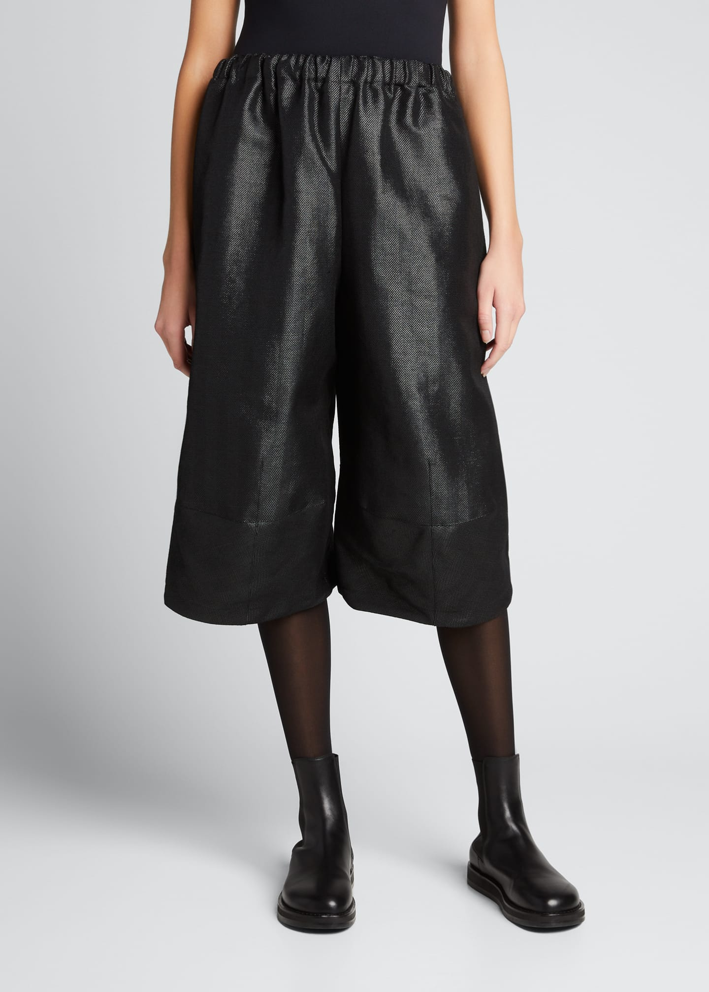 Image 3 of 5: Wide-Leg Wool-Blend Culottes