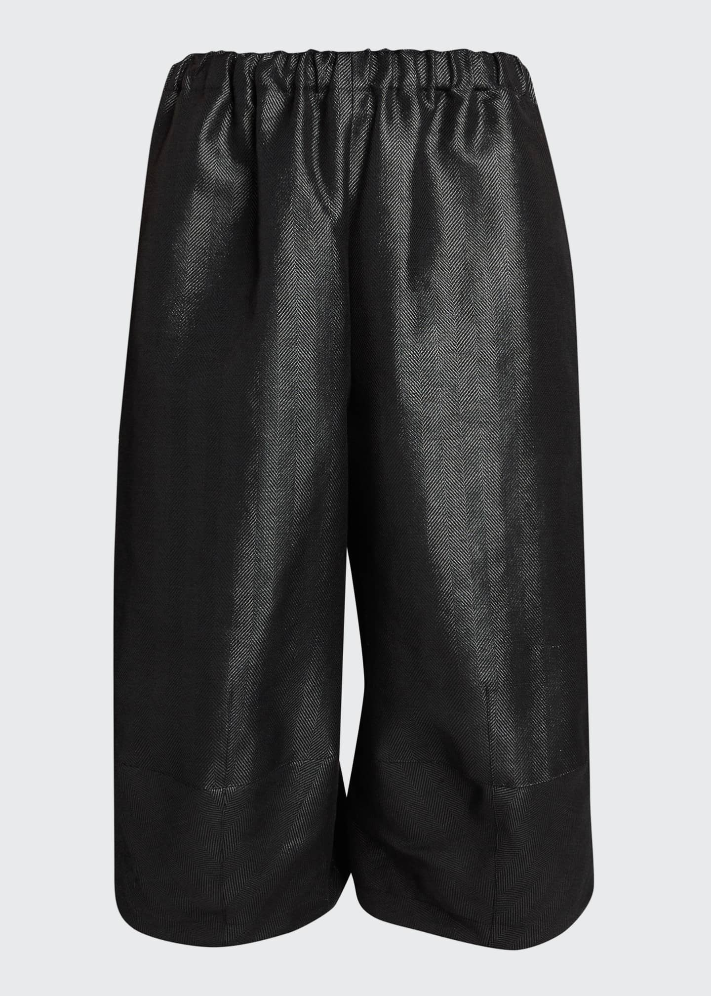 Image 5 of 5: Wide-Leg Wool-Blend Culottes