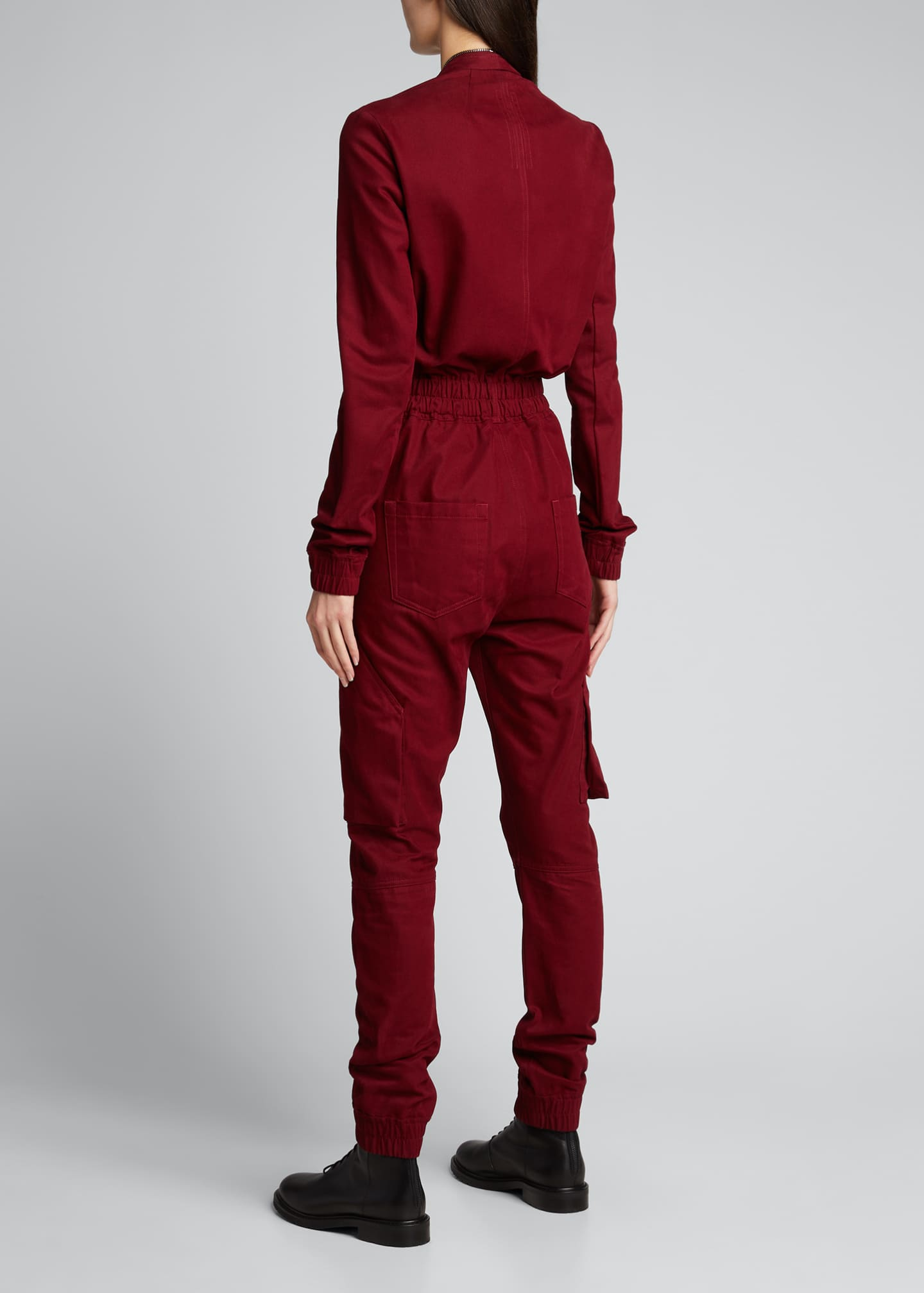 Image 2 of 5: Cargo Pocket Zip-Front Jumpsuit