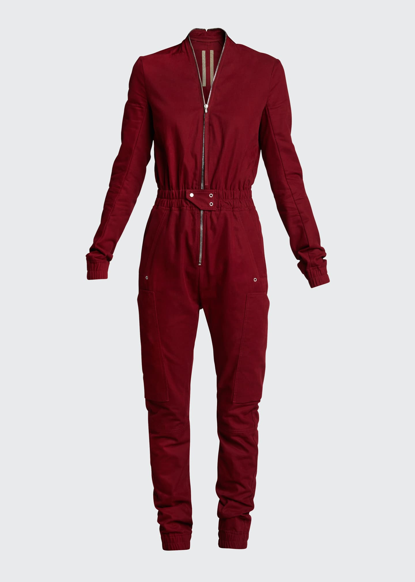 Image 5 of 5: Cargo Pocket Zip-Front Jumpsuit