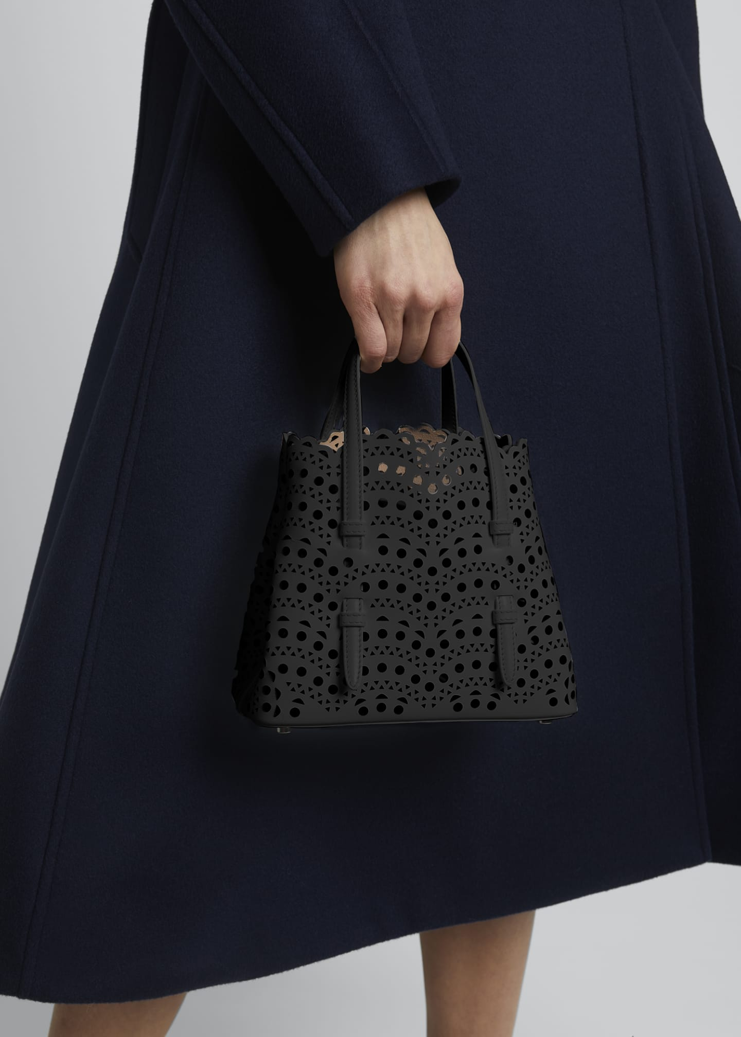 Image 2 of 5: Mina Mini Cutout Top Handle Bag