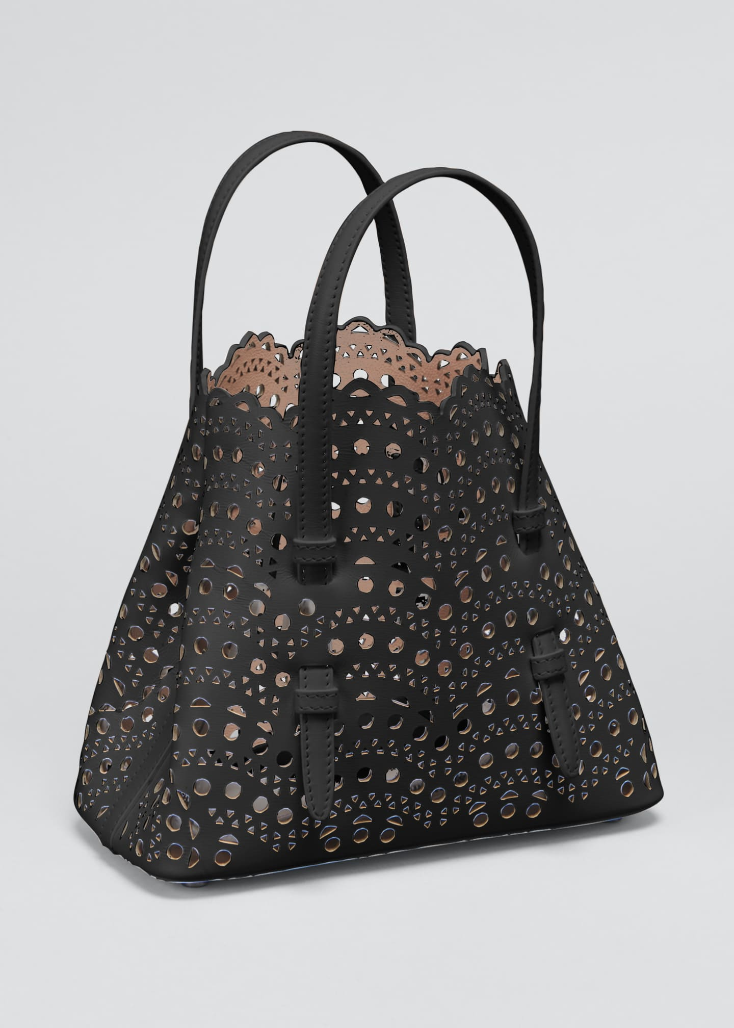 Image 3 of 5: Mina Mini Cutout Top Handle Bag