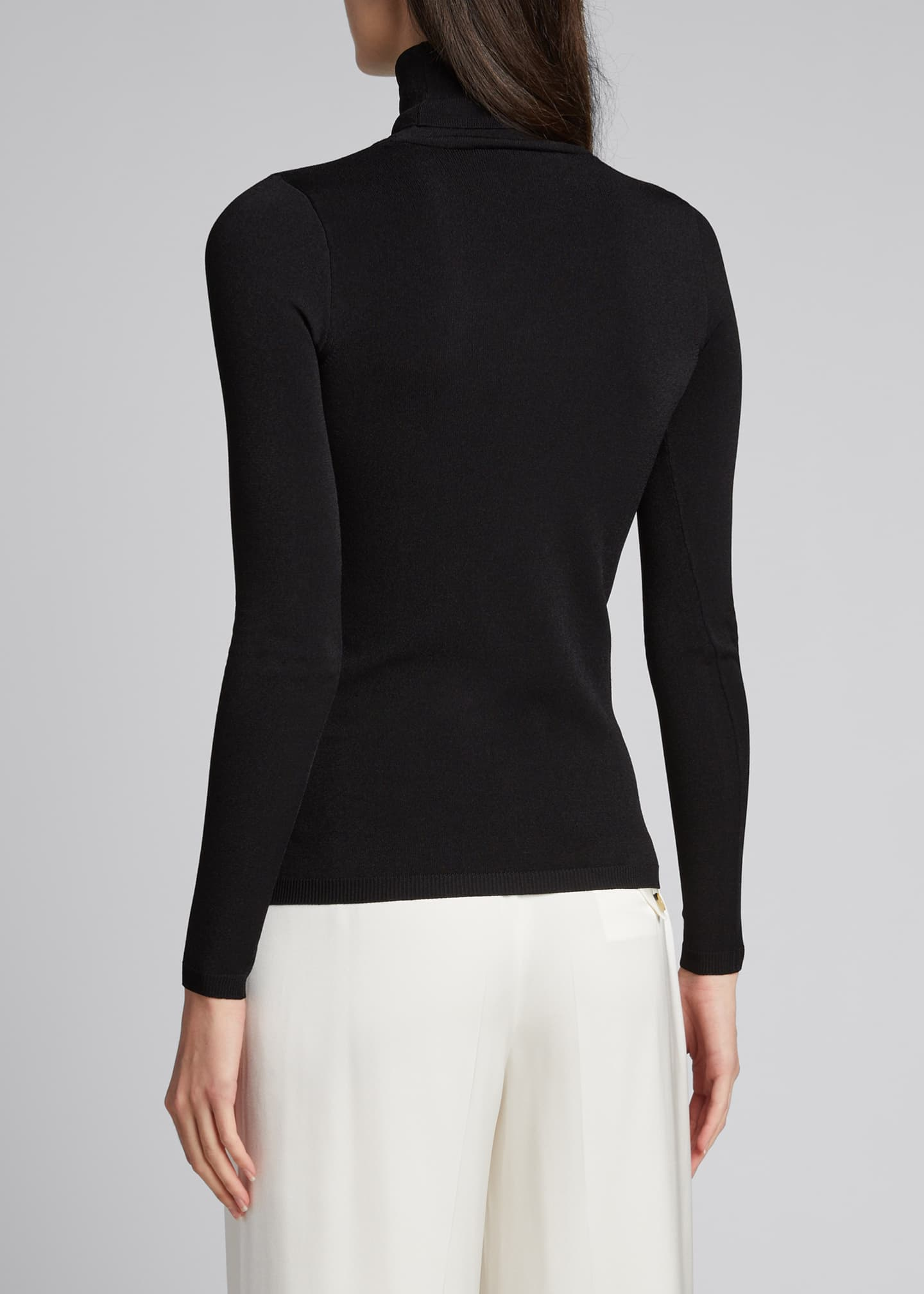 Image 2 of 5: Compact Knit Turtleneck Sweater