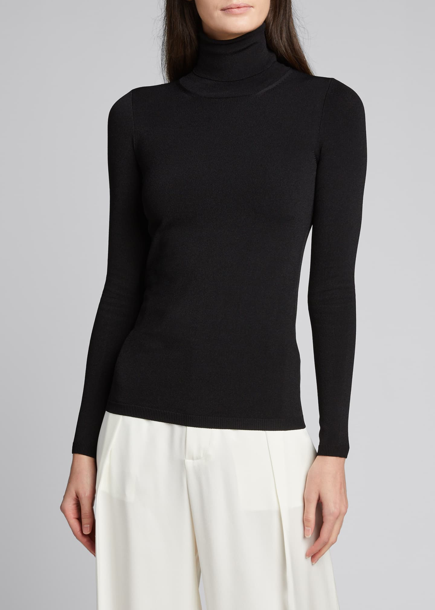 Image 3 of 5: Compact Knit Turtleneck Sweater