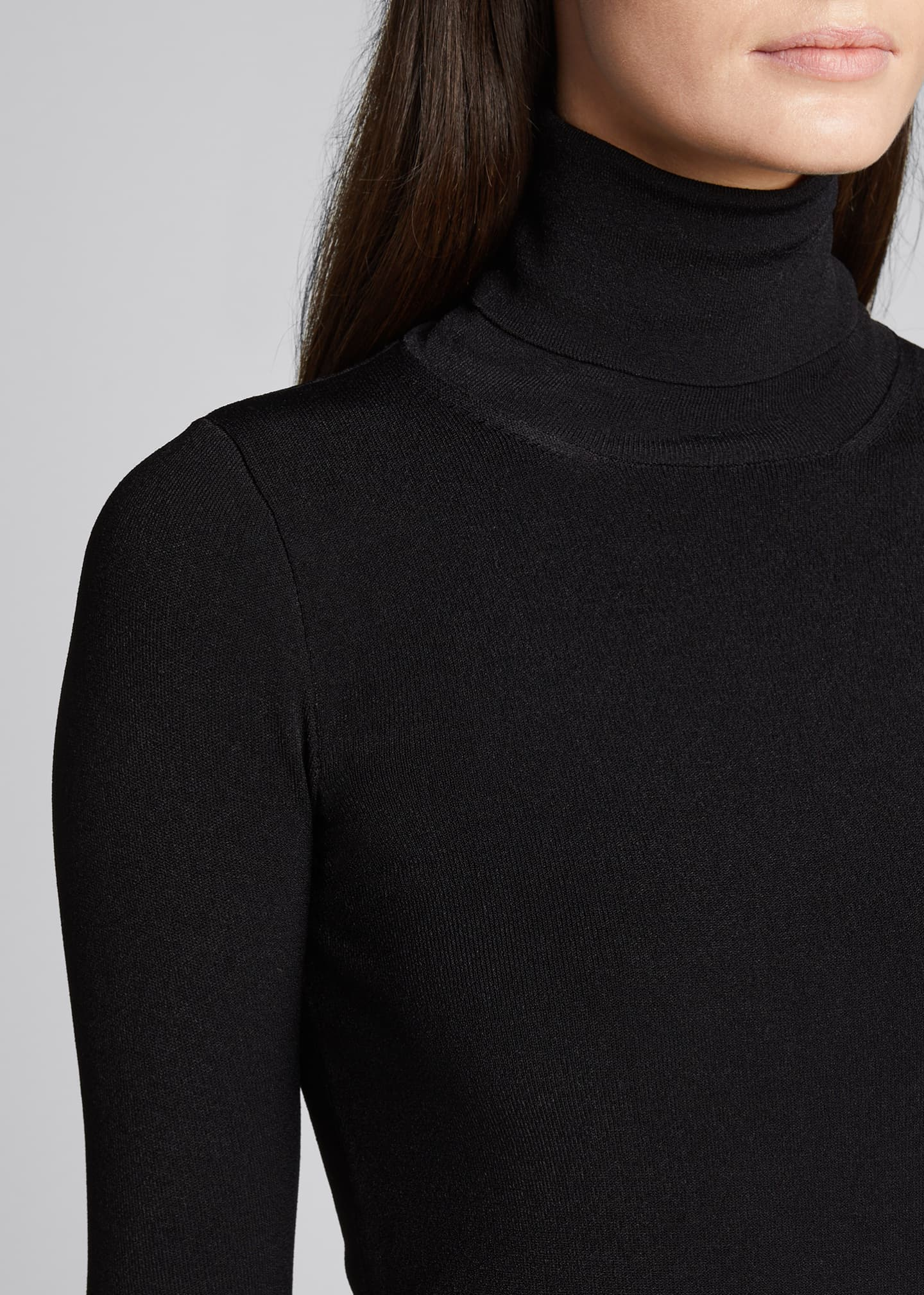 Image 4 of 5: Compact Knit Turtleneck Sweater