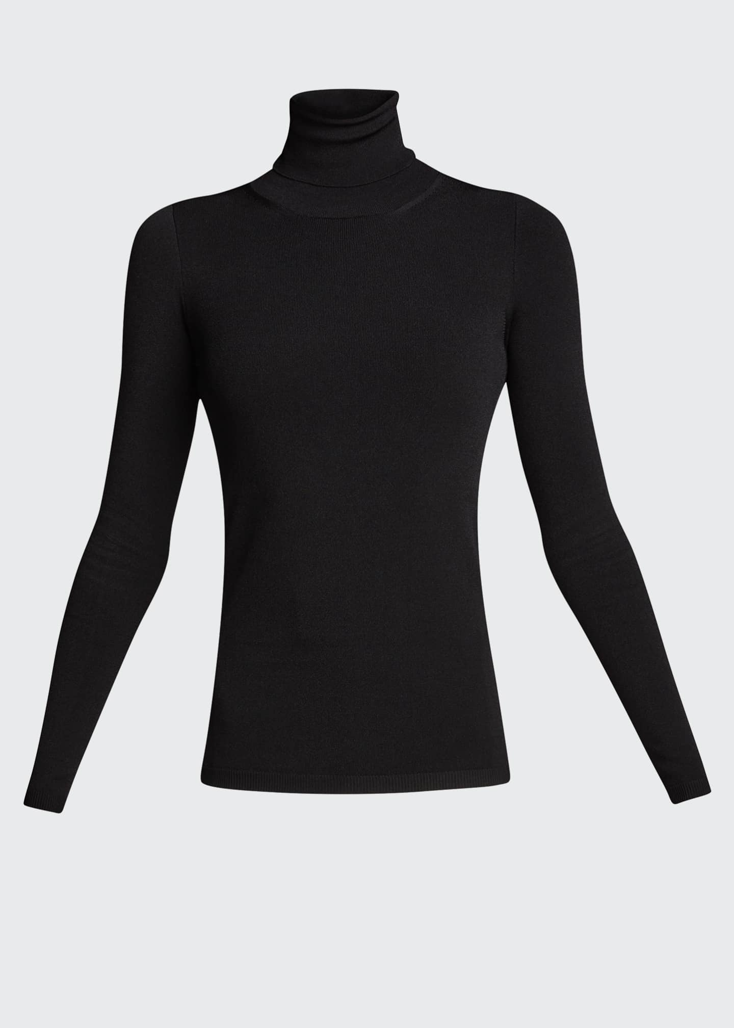 Image 5 of 5: Compact Knit Turtleneck Sweater