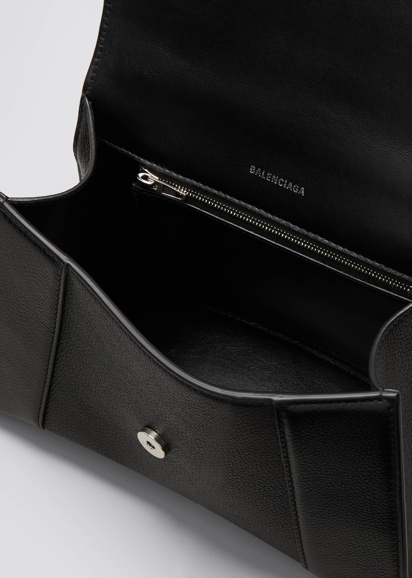 Image 4 of 5: Hourglass Small Calfskin Top-Handle Bag