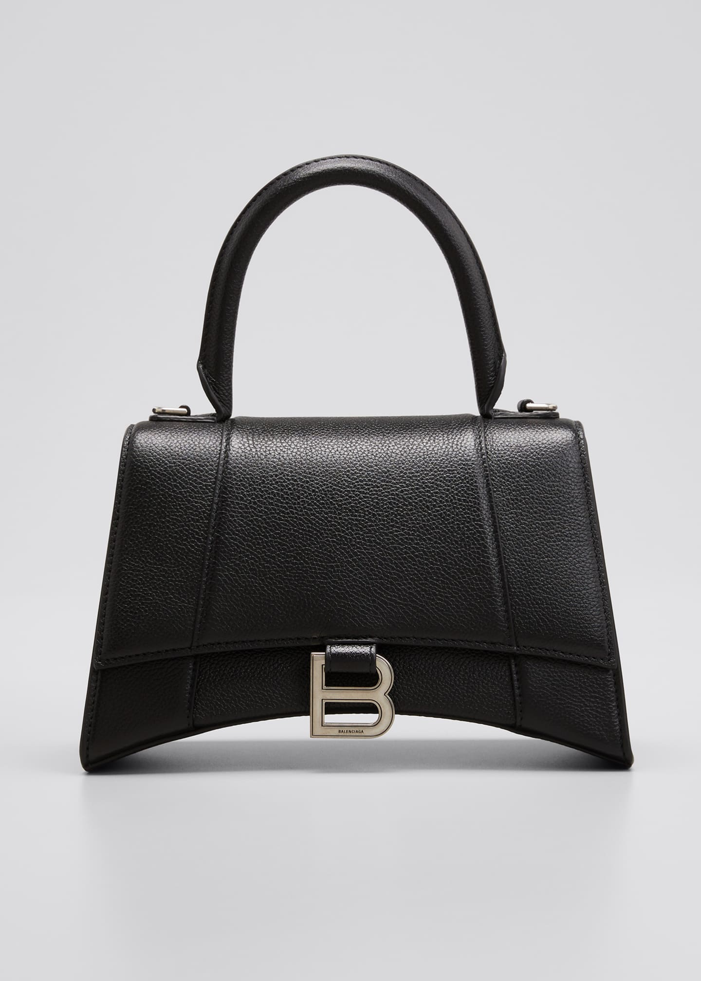 Image 1 of 5: Hourglass Small Calfskin Top-Handle Bag