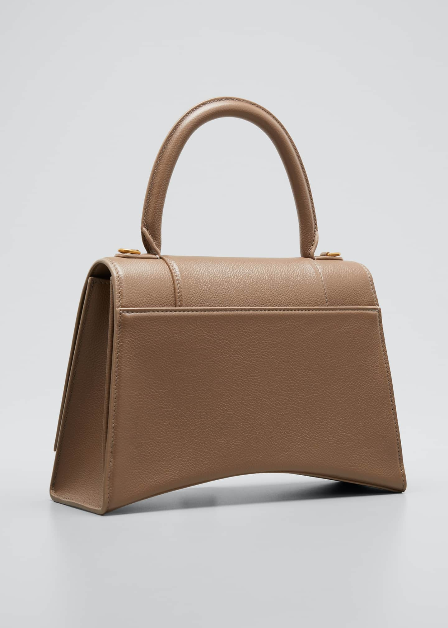 Image 3 of 5: Hourglass Leather Top-Handle Bag