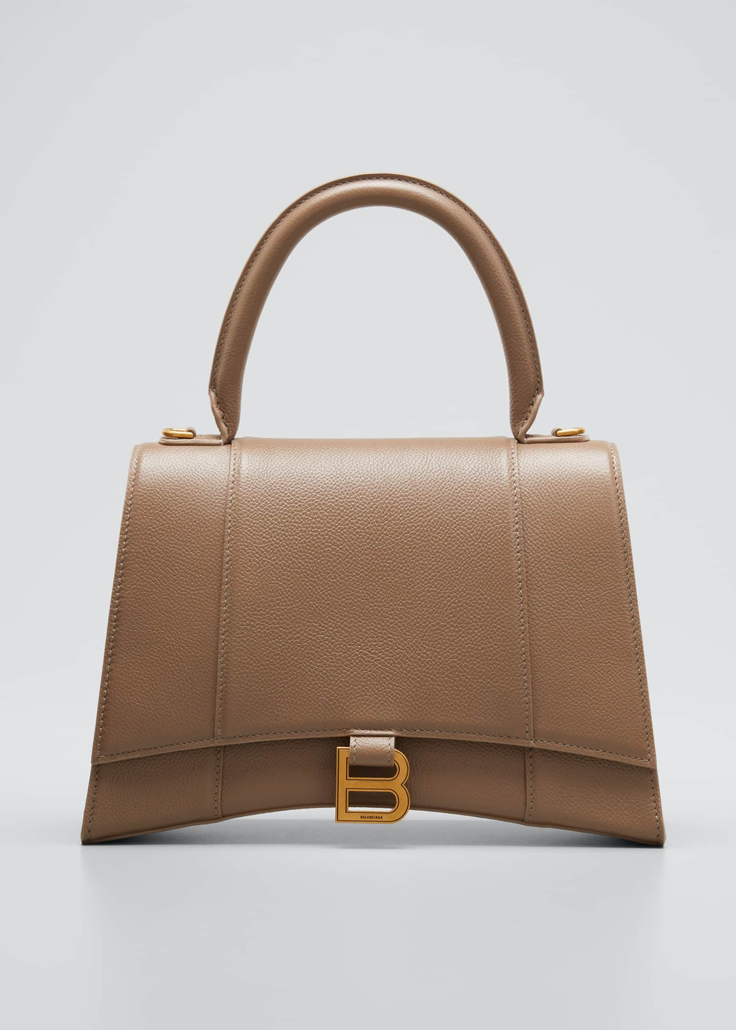 Image 1 of 5: Hourglass Leather Top-Handle Bag