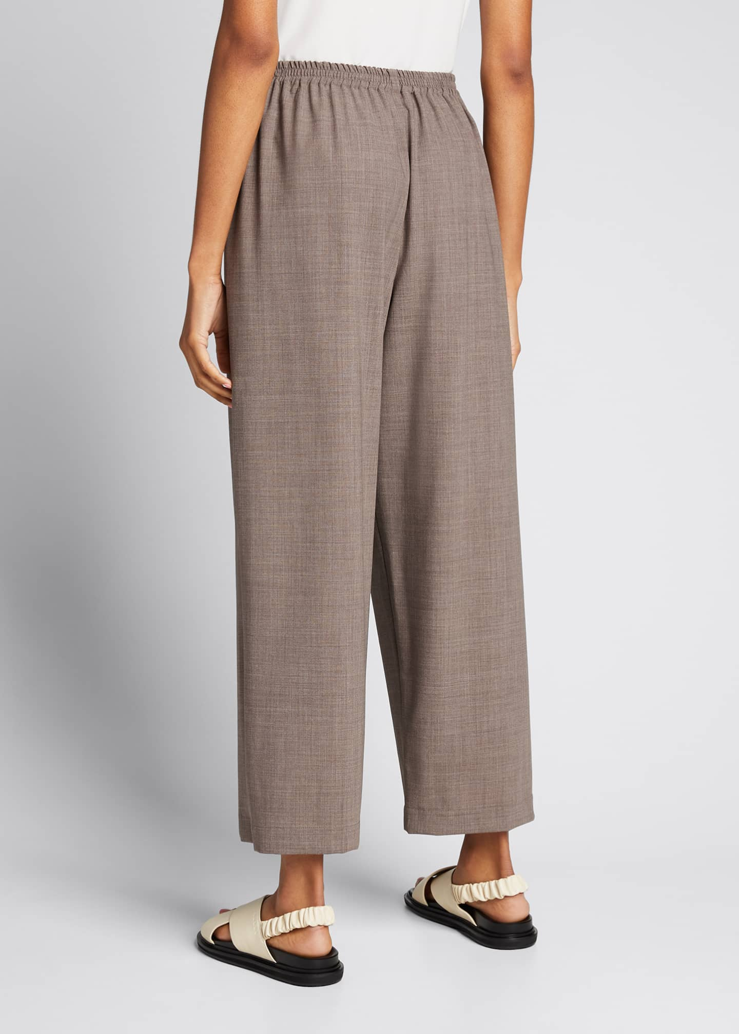 Image 2 of 5: Wool-Silk Relaxed Ankle Pants