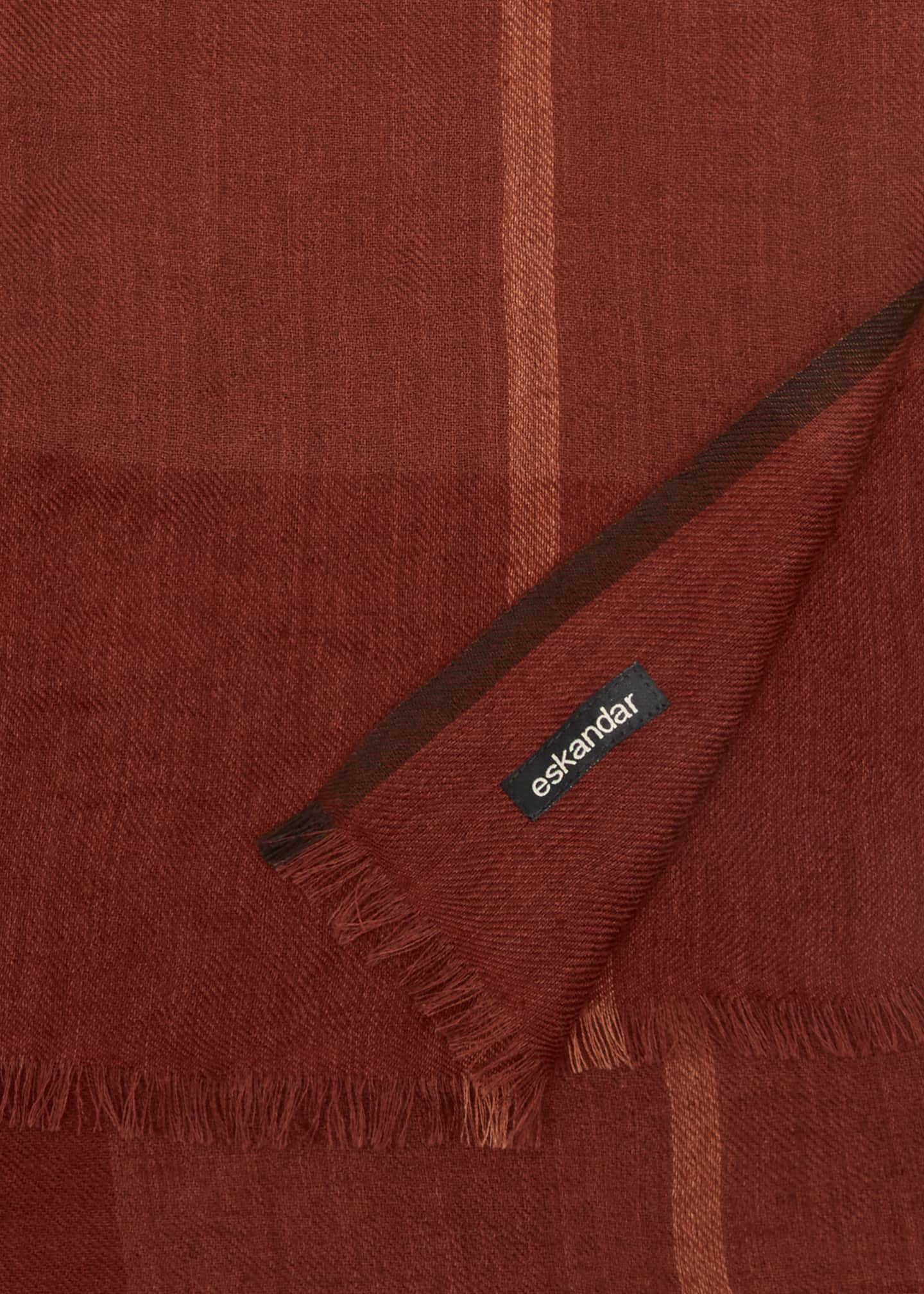 Image 4 of 4: Cashmere Tartan Check Scarf
