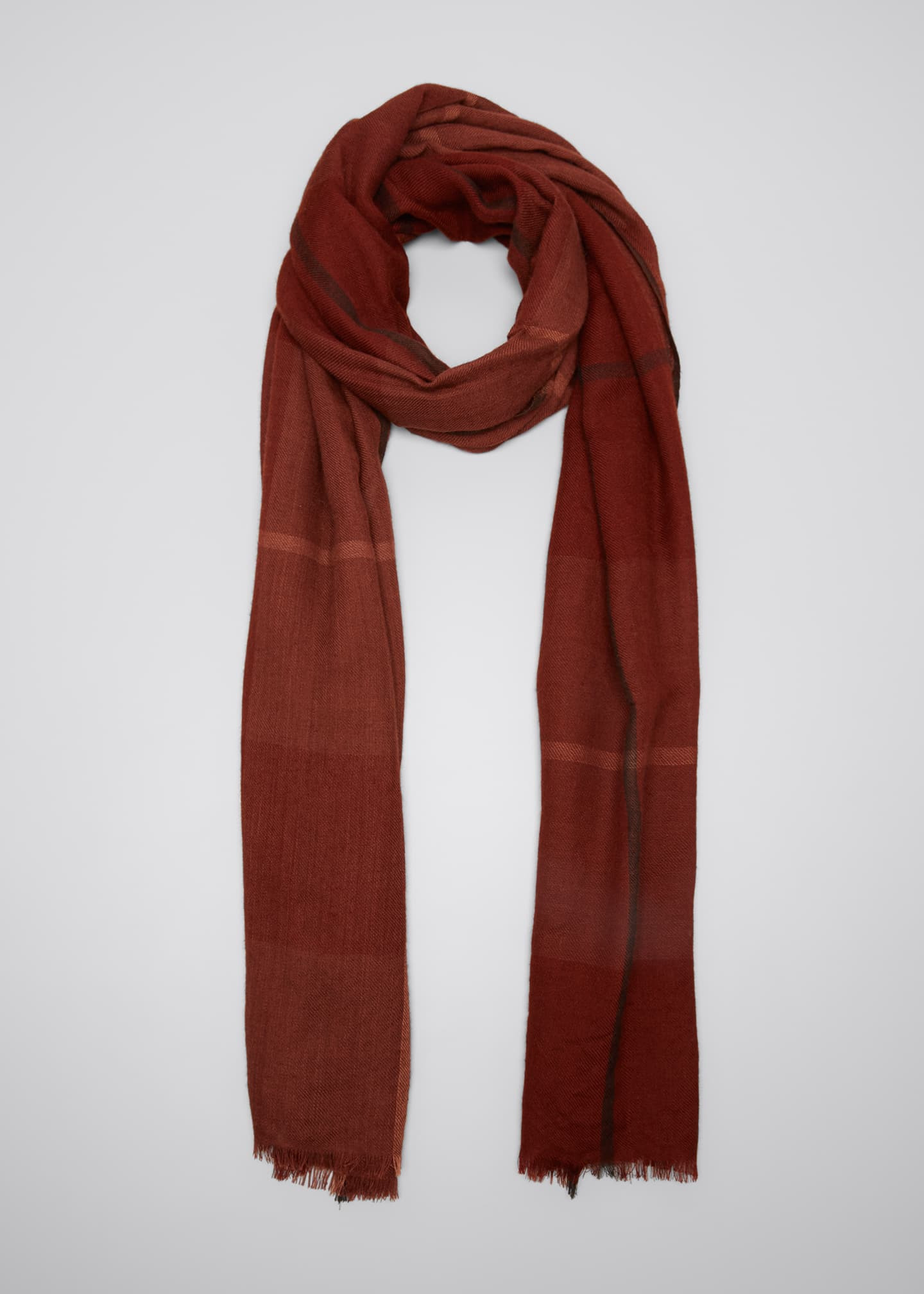 Image 1 of 4: Cashmere Tartan Check Scarf