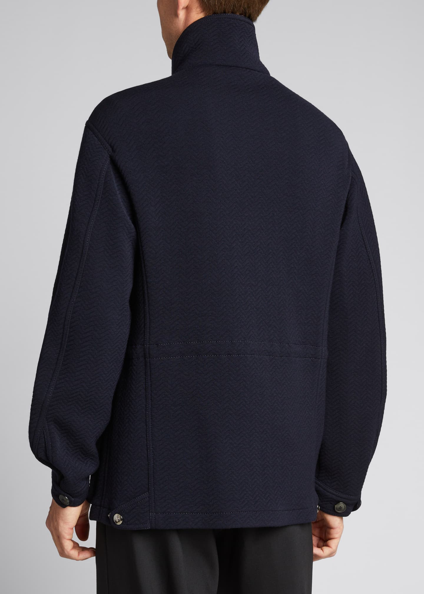 Image 2 of 5: Men's Herringbone Wool-Blend Field Jacket