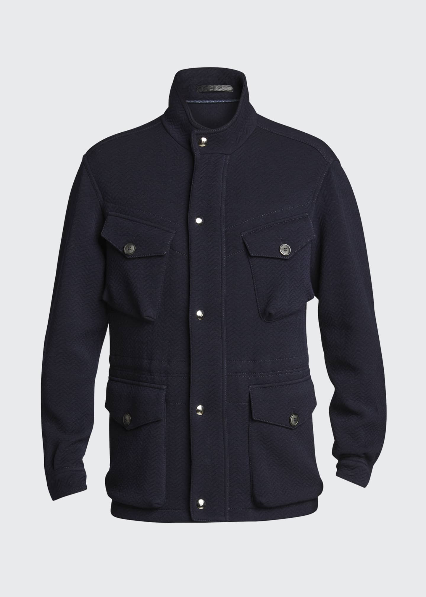 Image 5 of 5: Men's Herringbone Wool-Blend Field Jacket