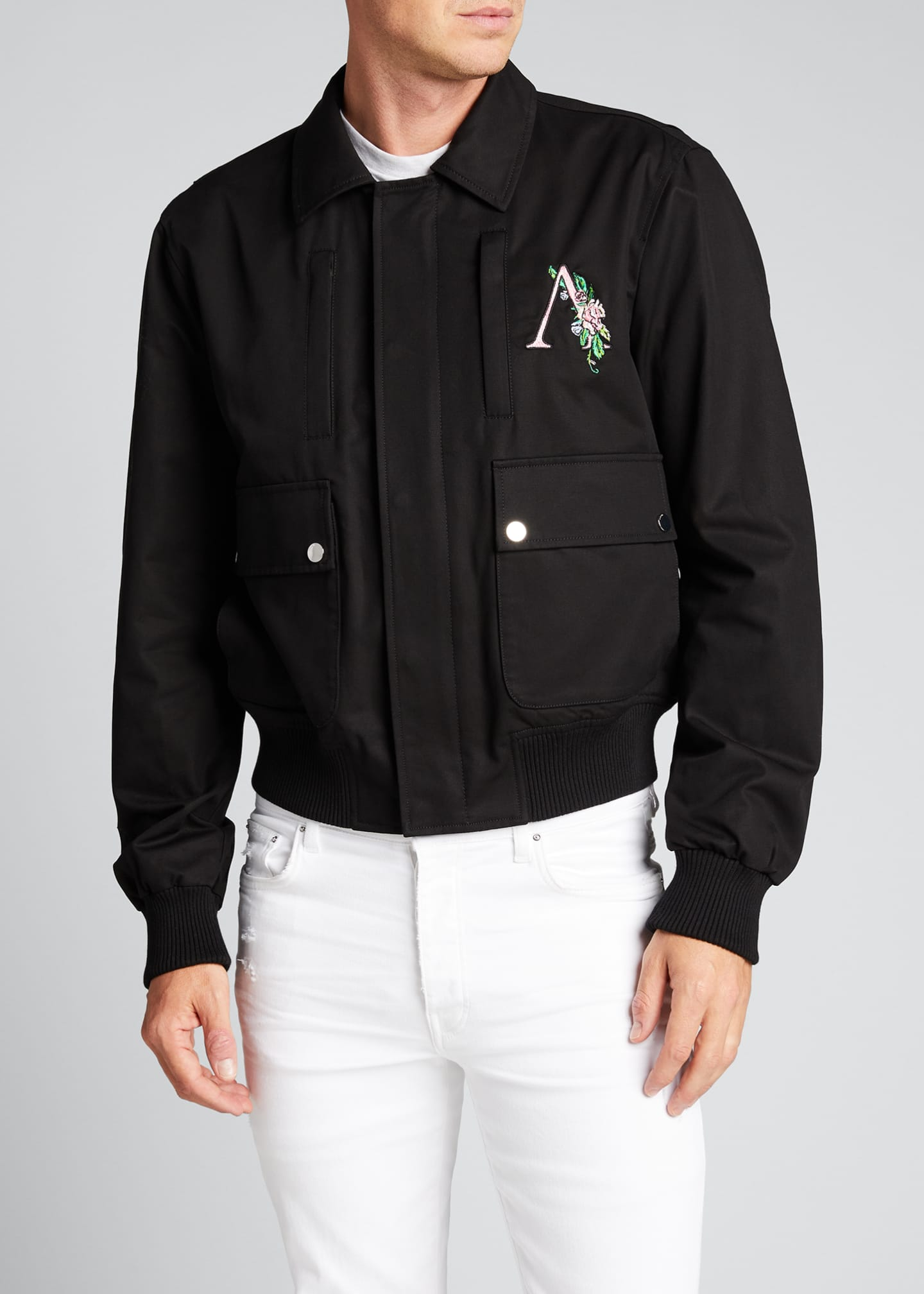 Image 3 of 5: Men's Floral Logo 4-Pocket Jacket