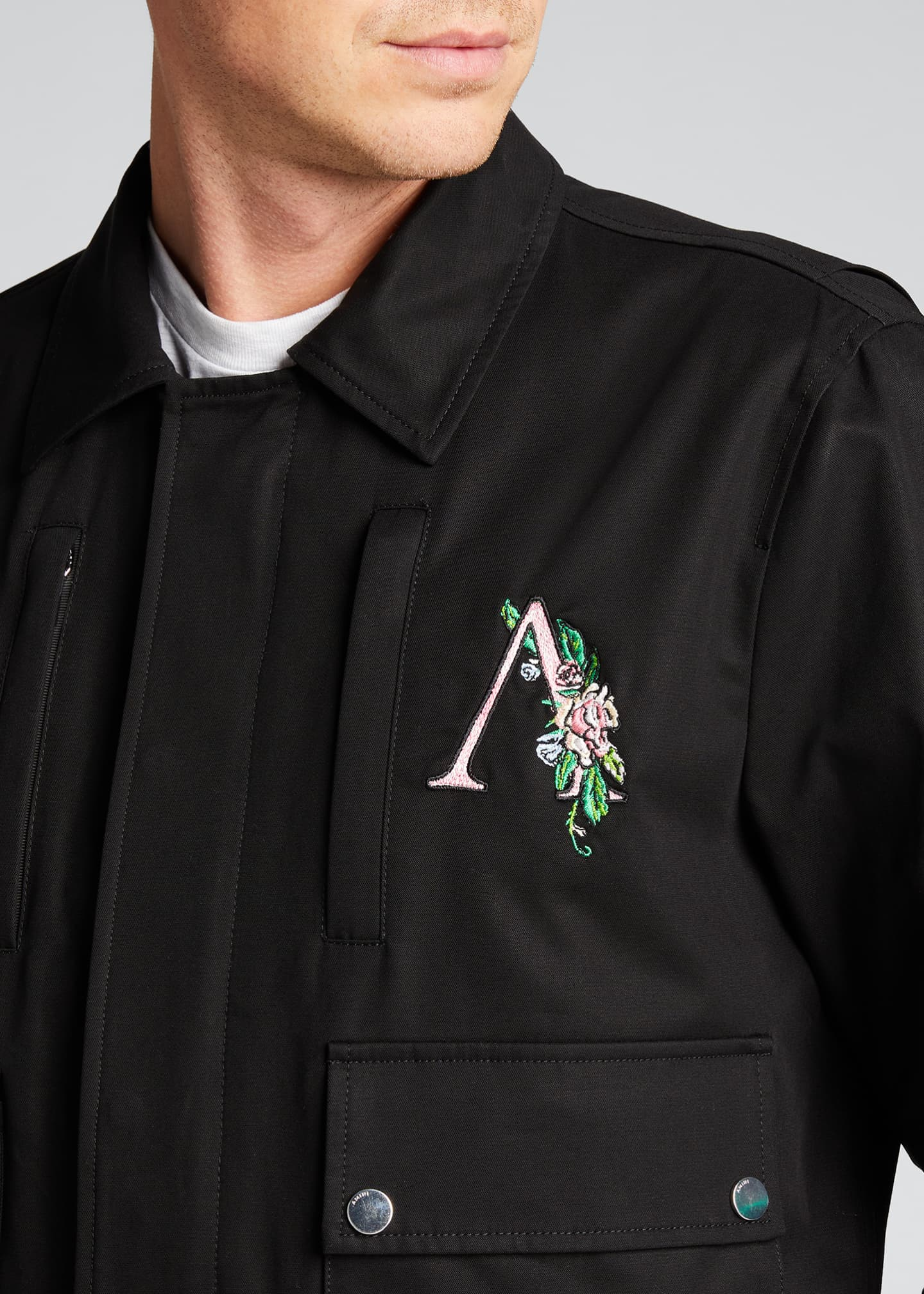 Image 4 of 5: Men's Floral Logo 4-Pocket Jacket