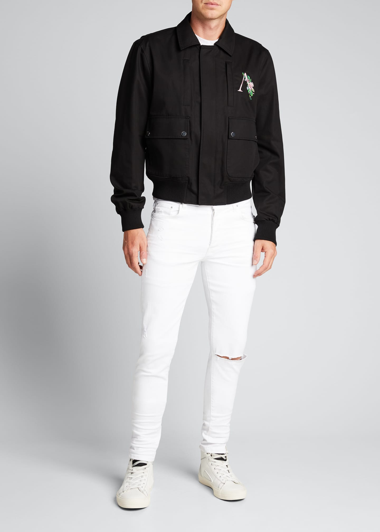 Image 1 of 5: Men's Floral Logo 4-Pocket Jacket