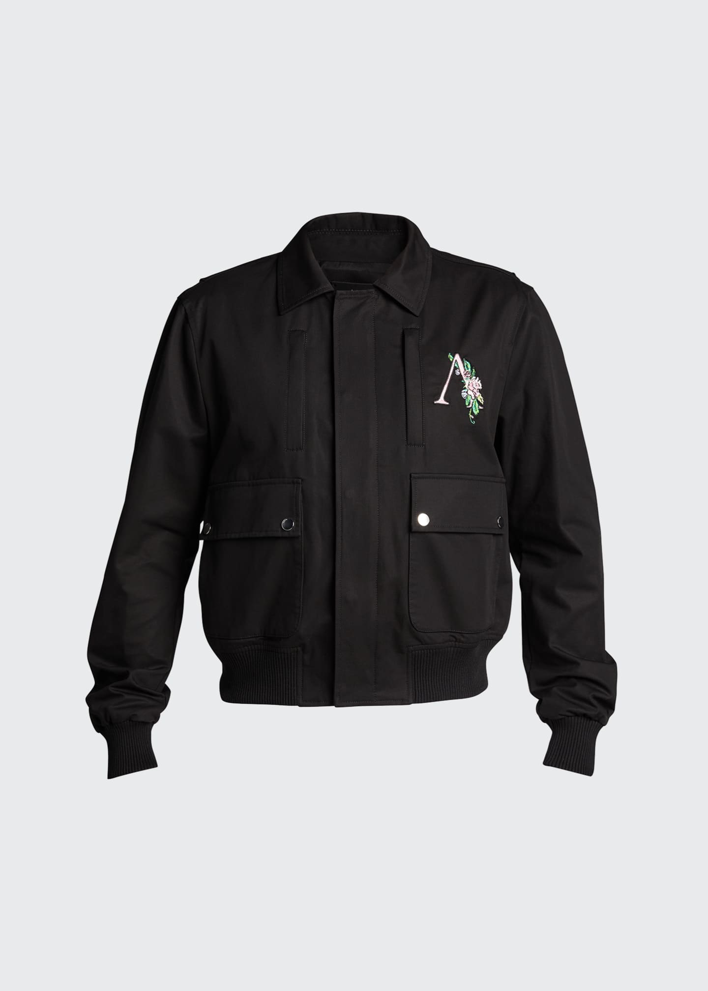 Image 5 of 5: Men's Floral Logo 4-Pocket Jacket