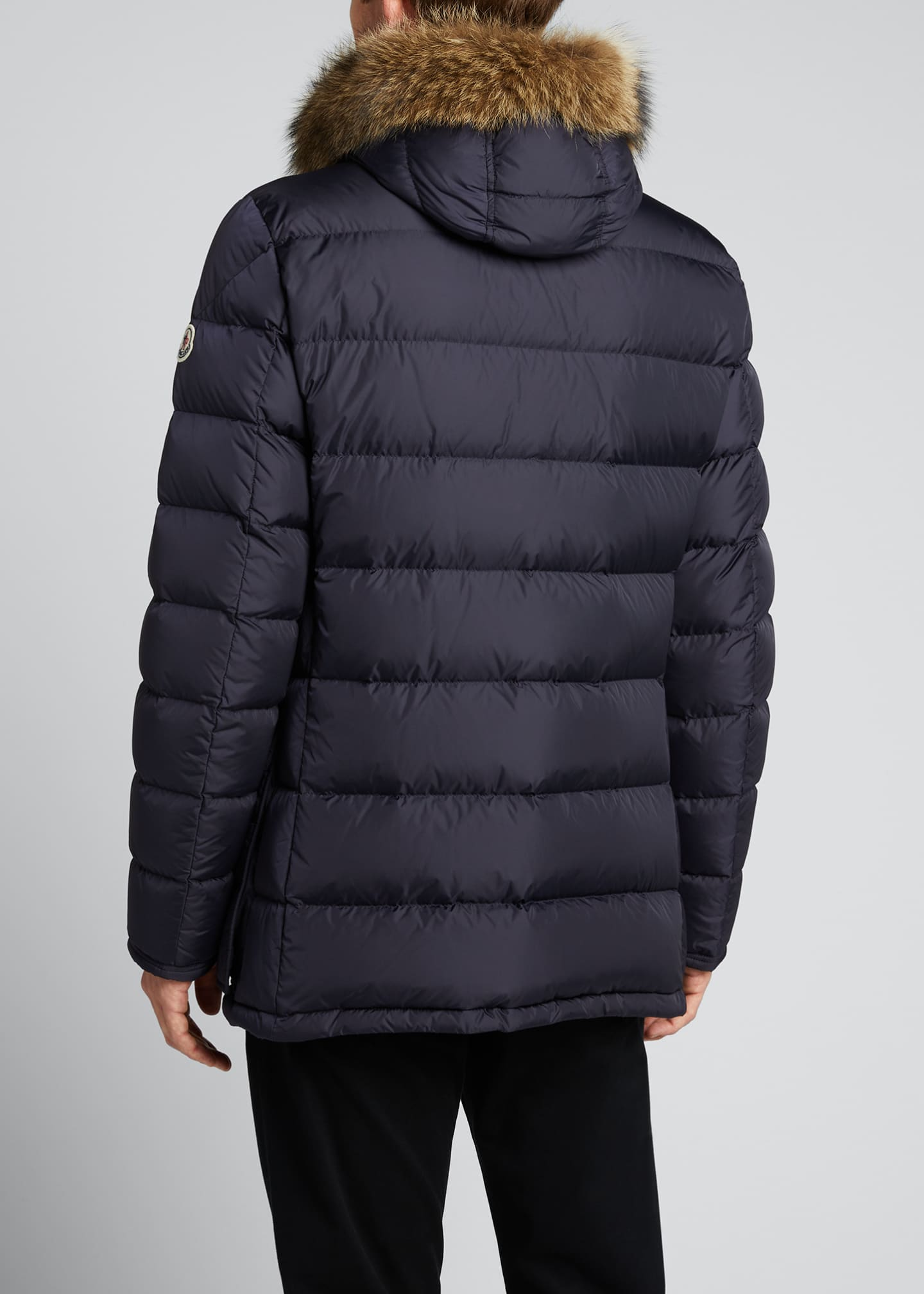 Image 2 of 5: Men's Cluny Quilted Puffer Jacket w/ Fur Trim