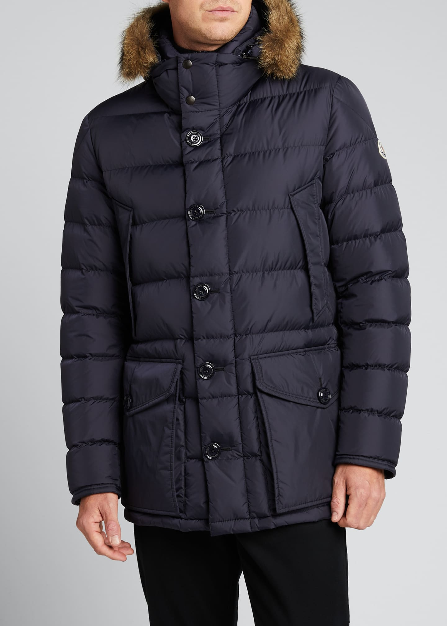 Image 3 of 5: Men's Cluny Quilted Puffer Jacket w/ Fur Trim