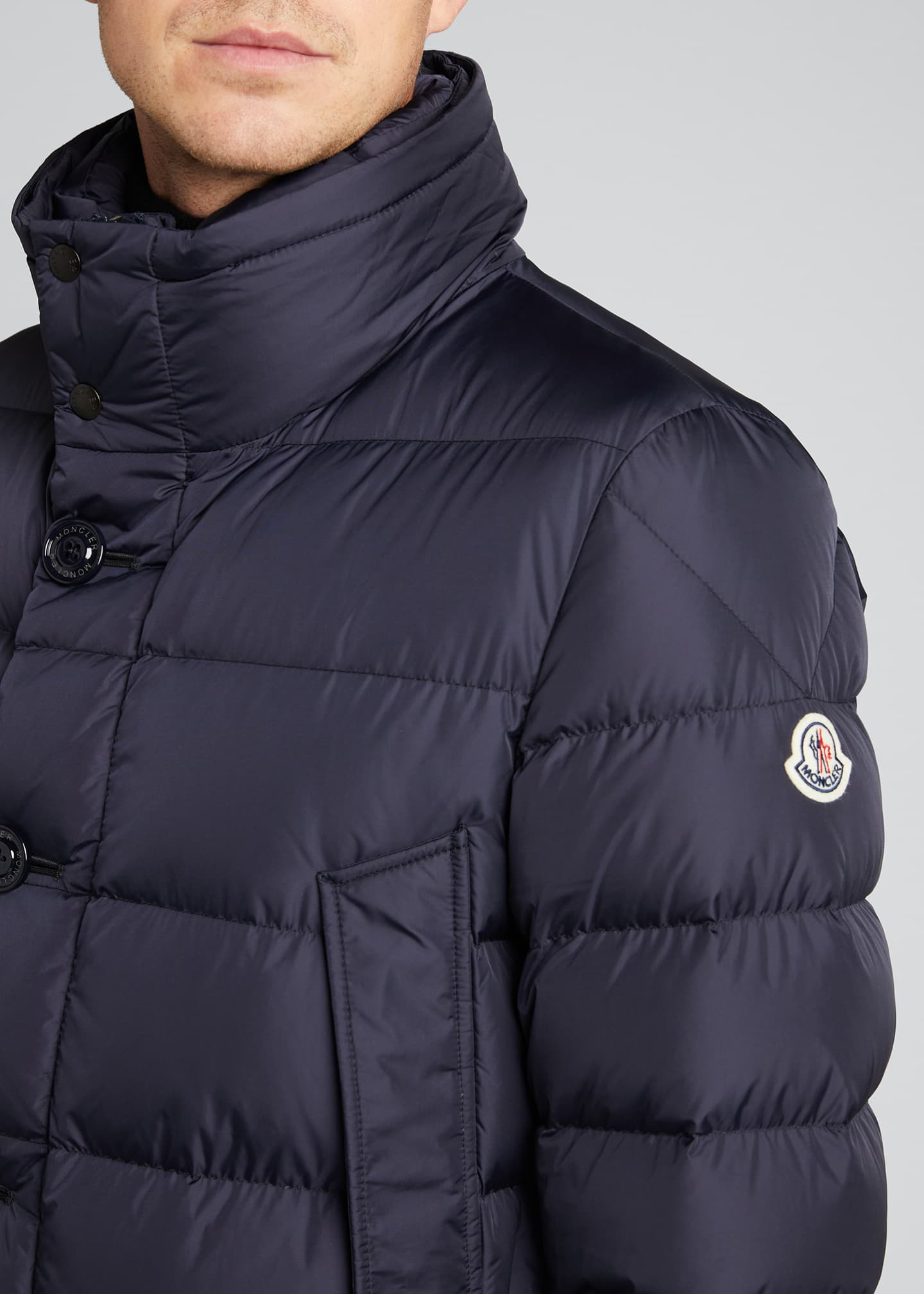 Image 4 of 5: Men's Cluny Quilted Puffer Jacket w/ Fur Trim