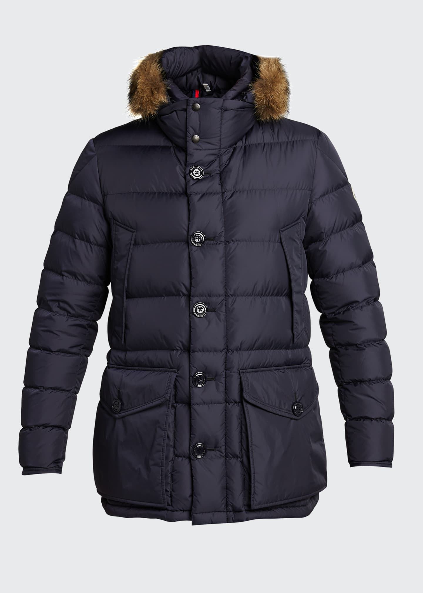 Image 5 of 5: Men's Cluny Quilted Puffer Jacket w/ Fur Trim